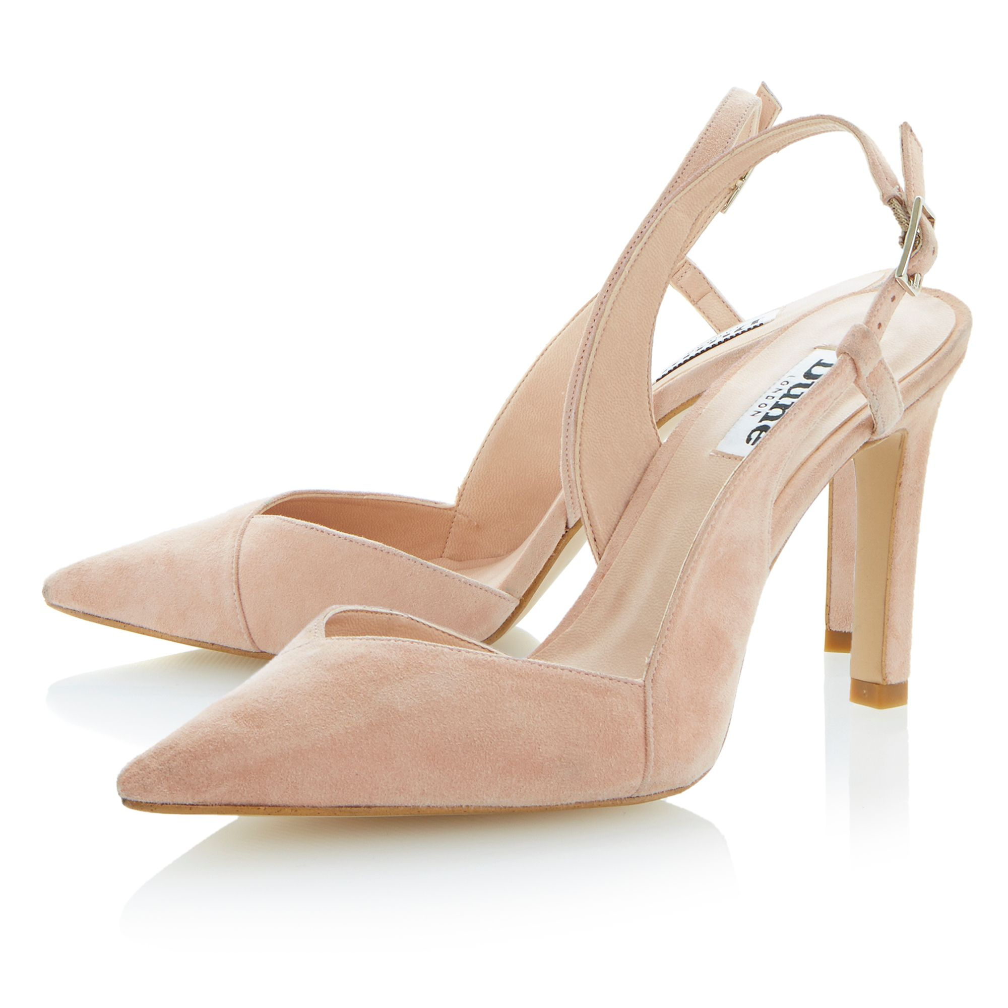 Carmella suede pointed toe stiletto court shoes