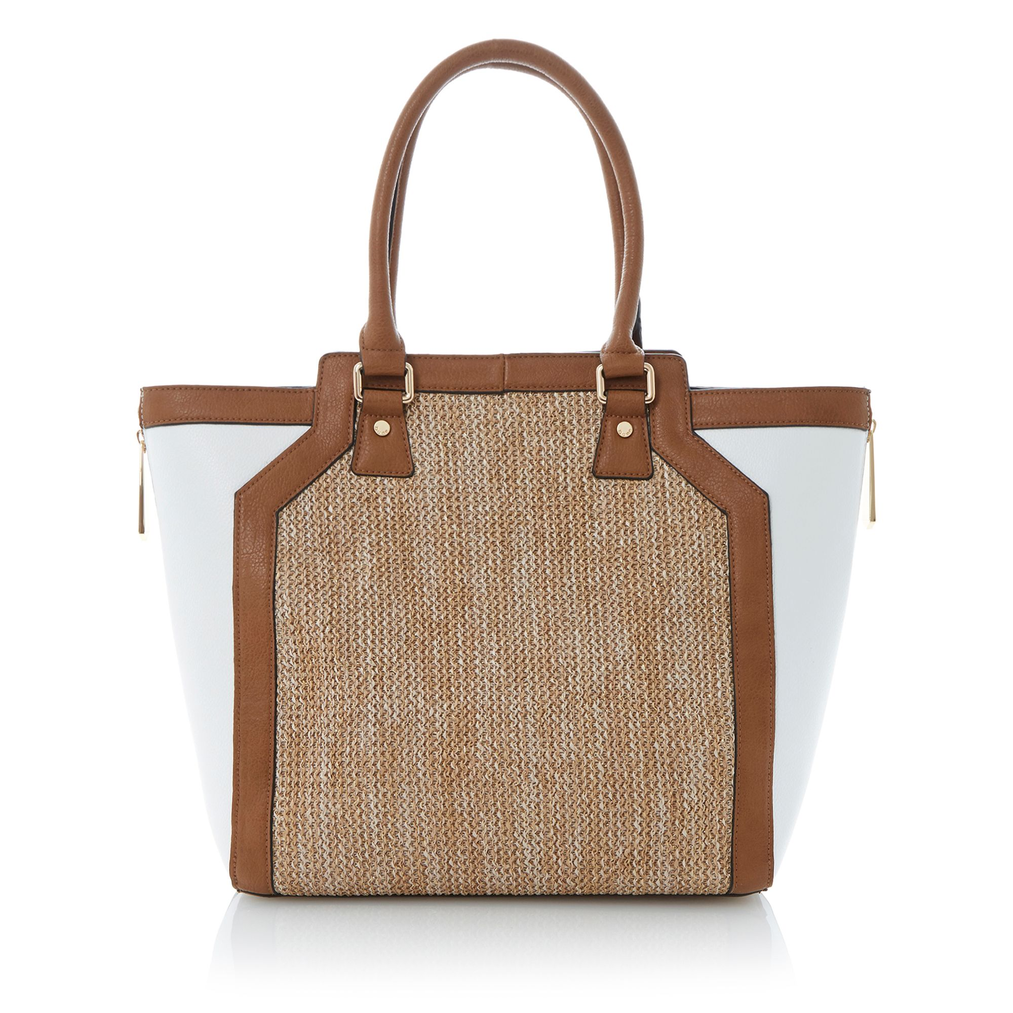 Drifter winged raffia shopper bag