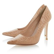 Brook leather pointed toe stiletto court shoes