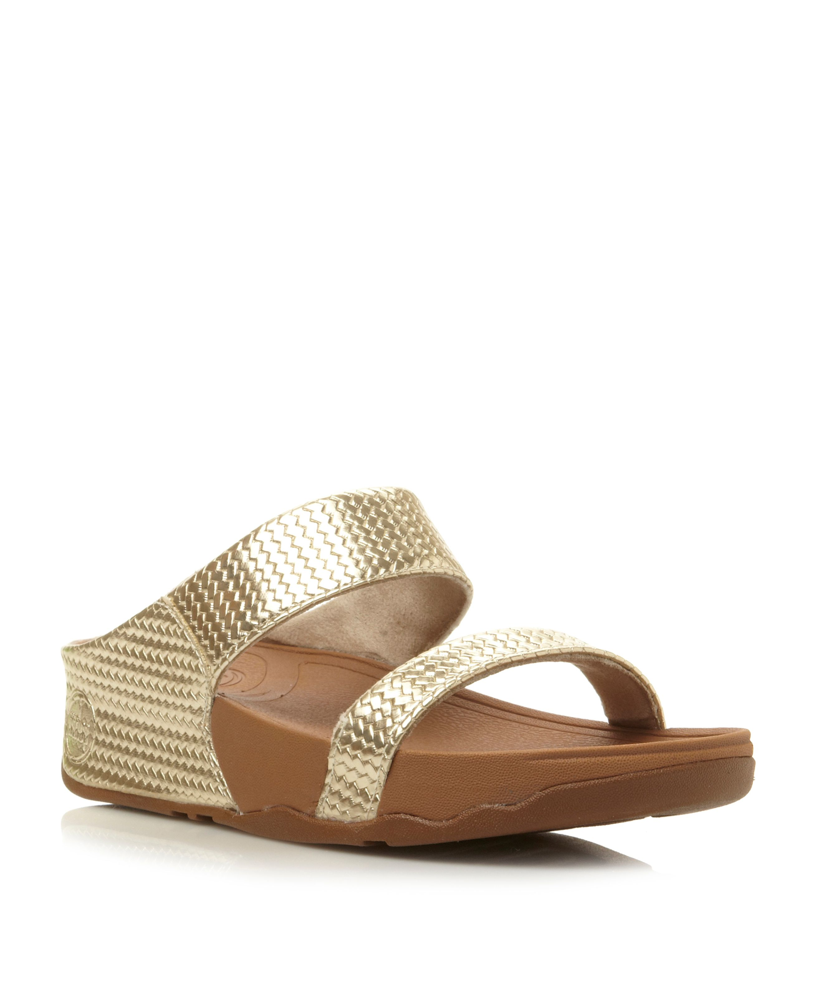Lulu weave finish 2 bar mules