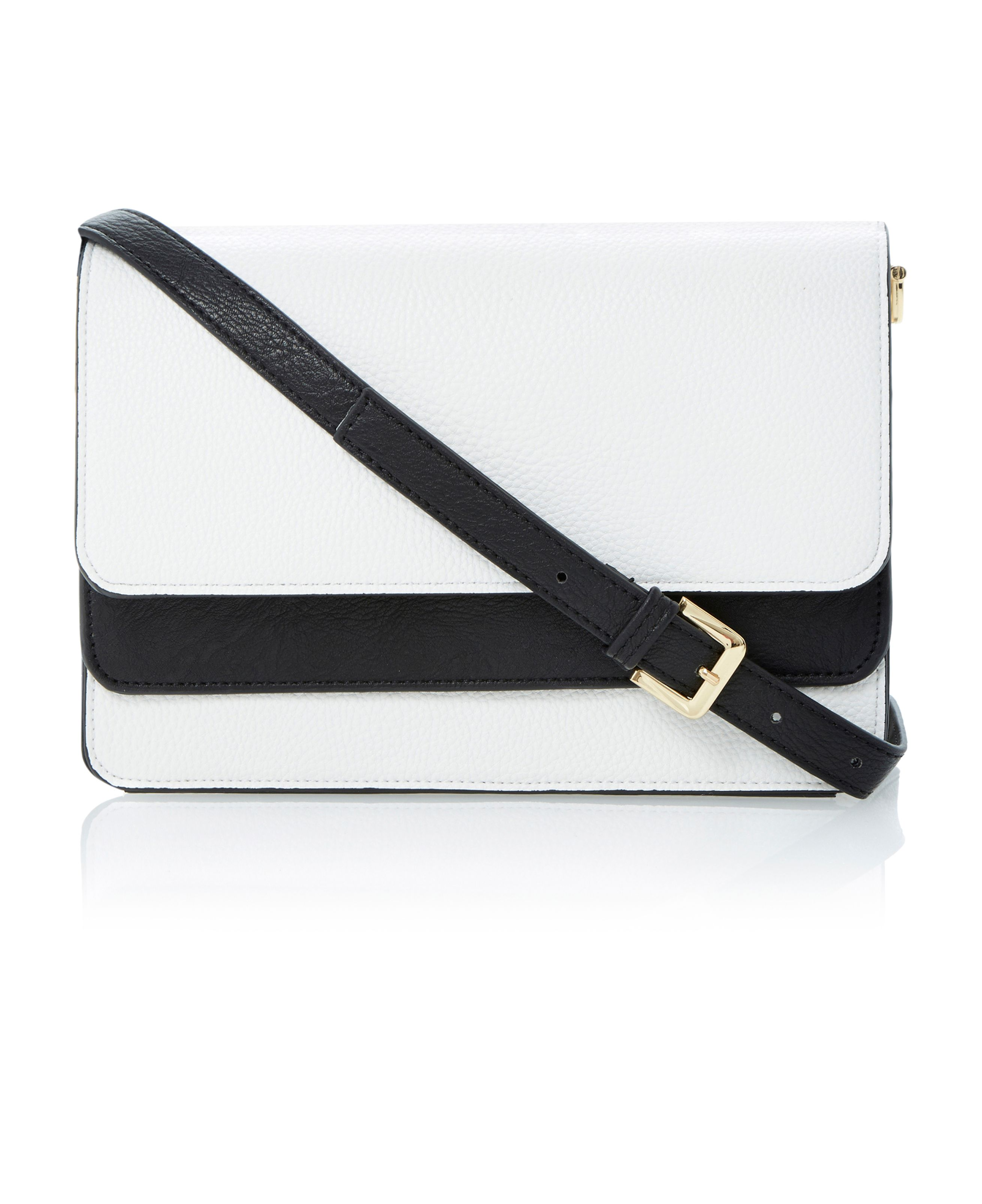 Brimey monochrome double foldover clutch bag