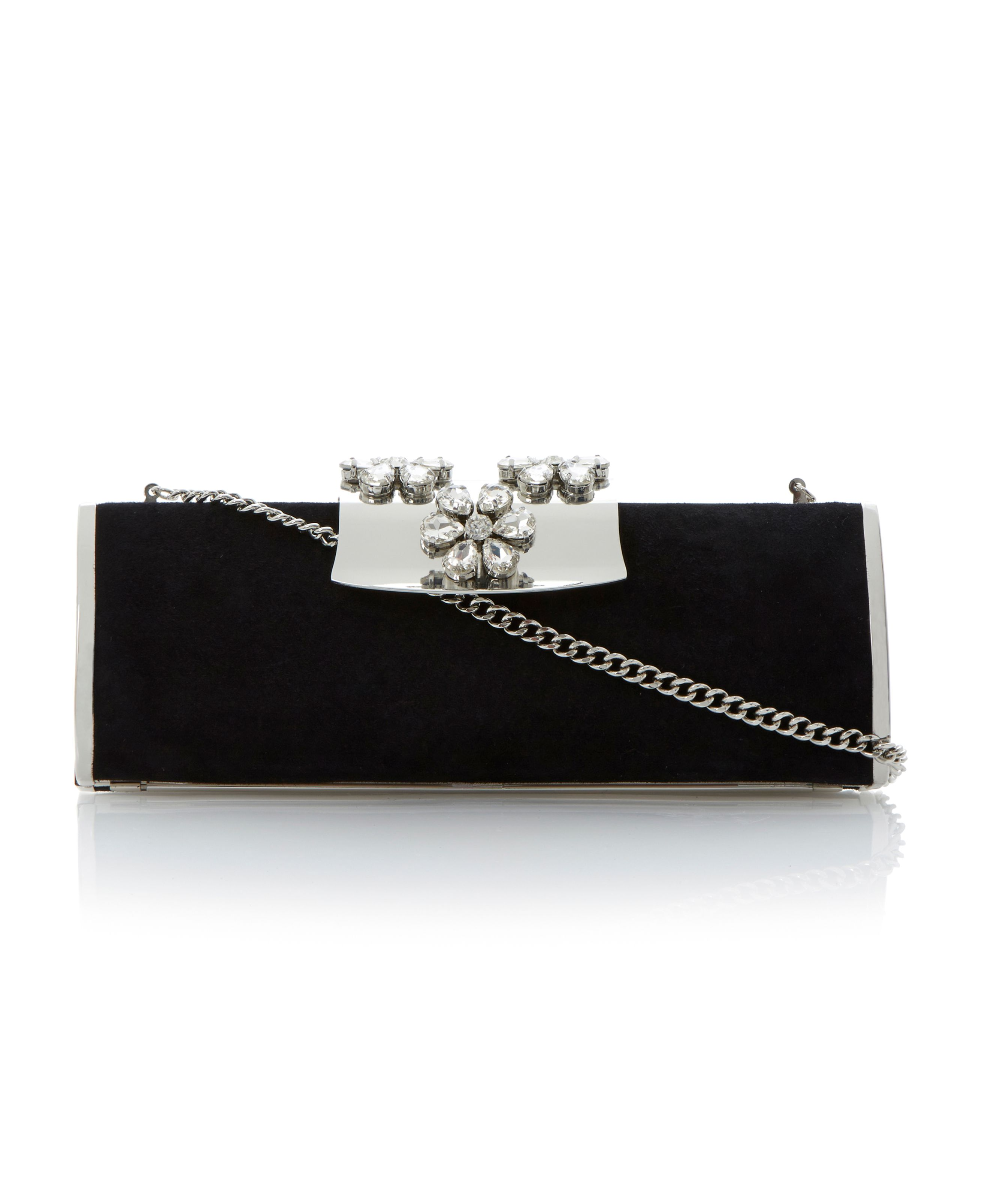 Baizey jewelled flower clutch bag