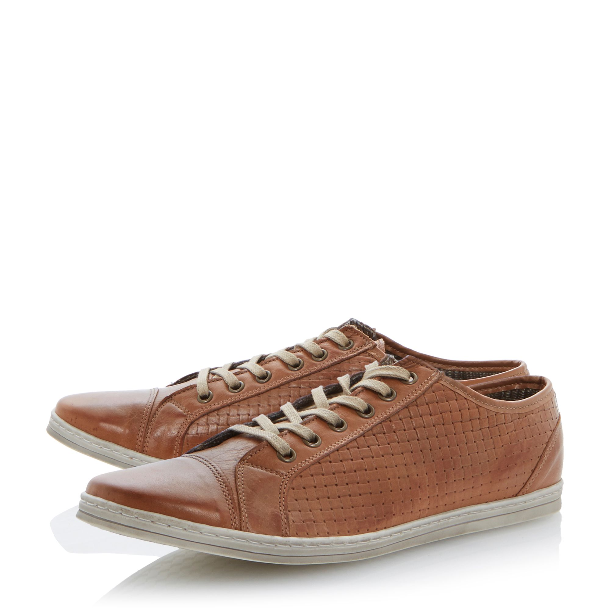 Trickster lace up side weave trainers