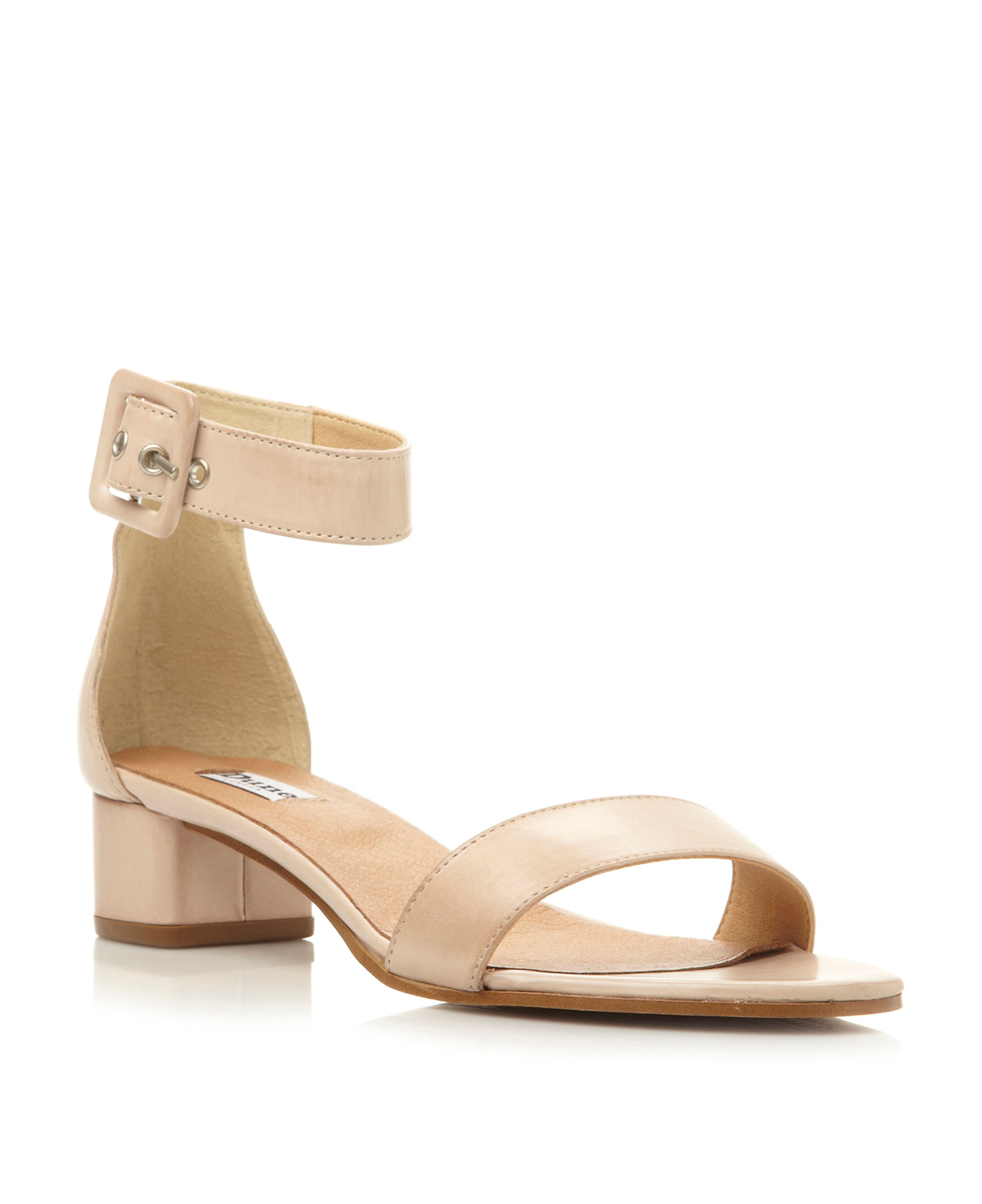 Fran leather block heel two part sandals