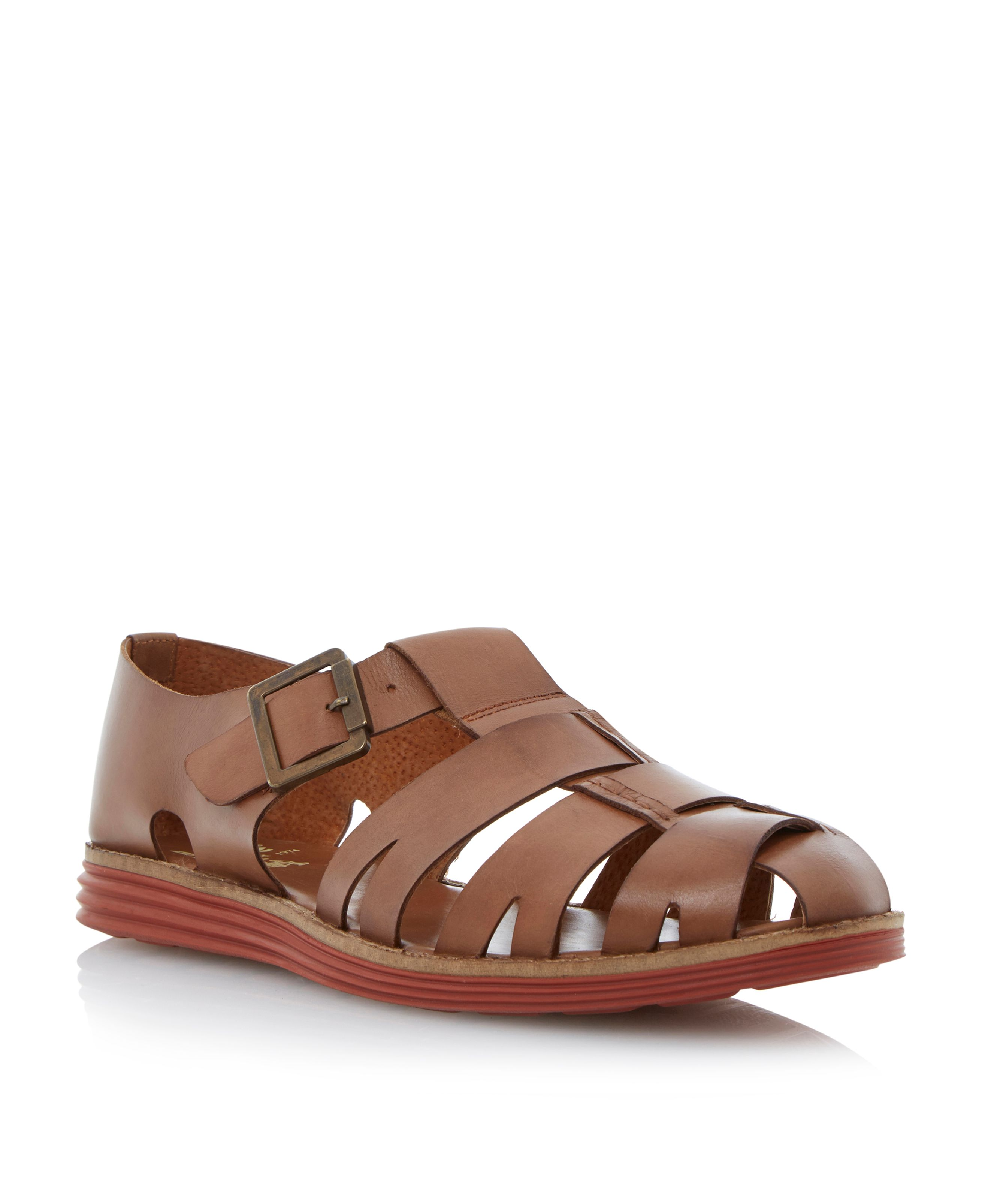 Fisherman sporty sole buckle sandals