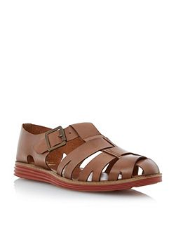 Bertie Fisherman sporty sole buckle sandals