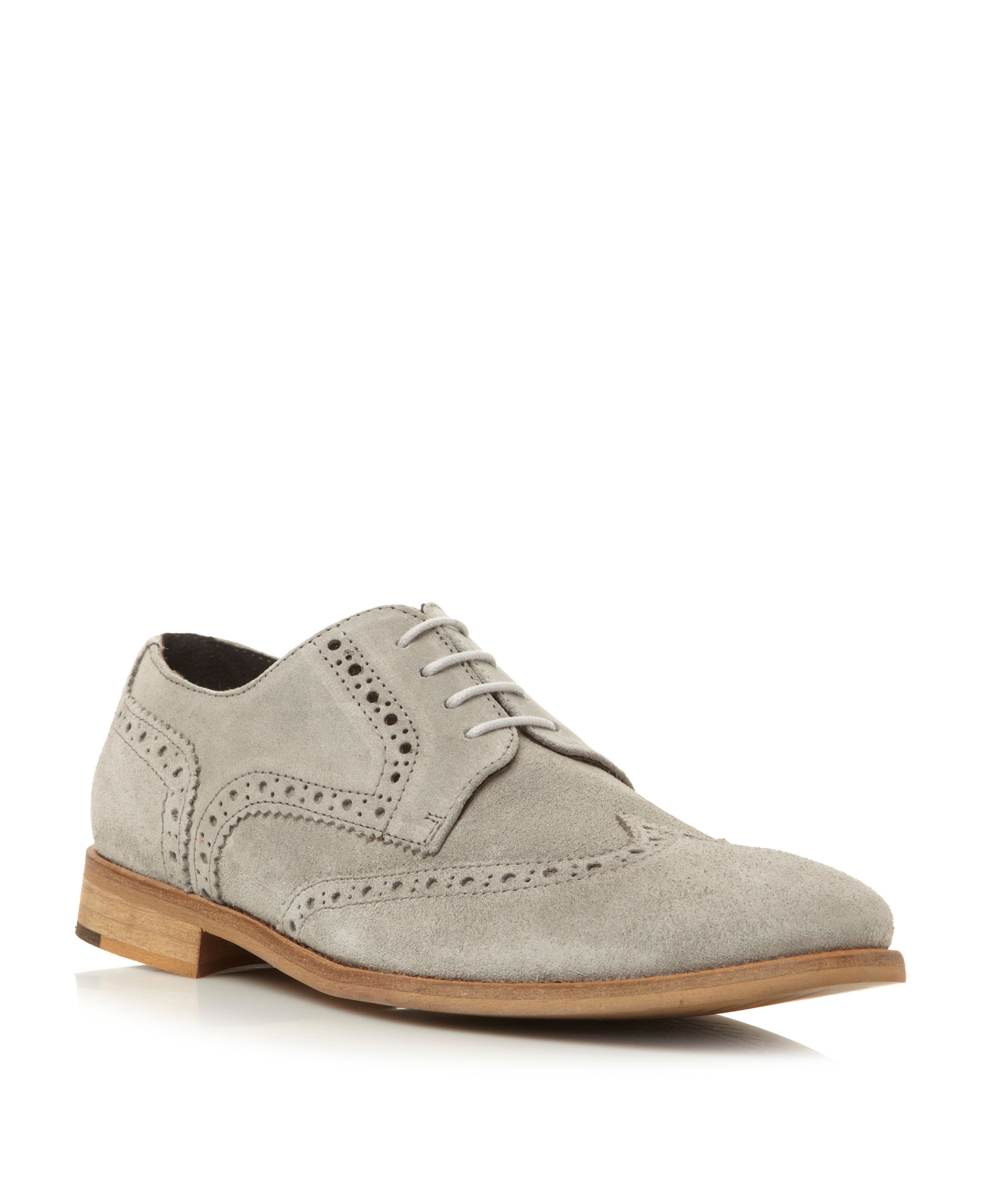 Aston suede lace up brogues