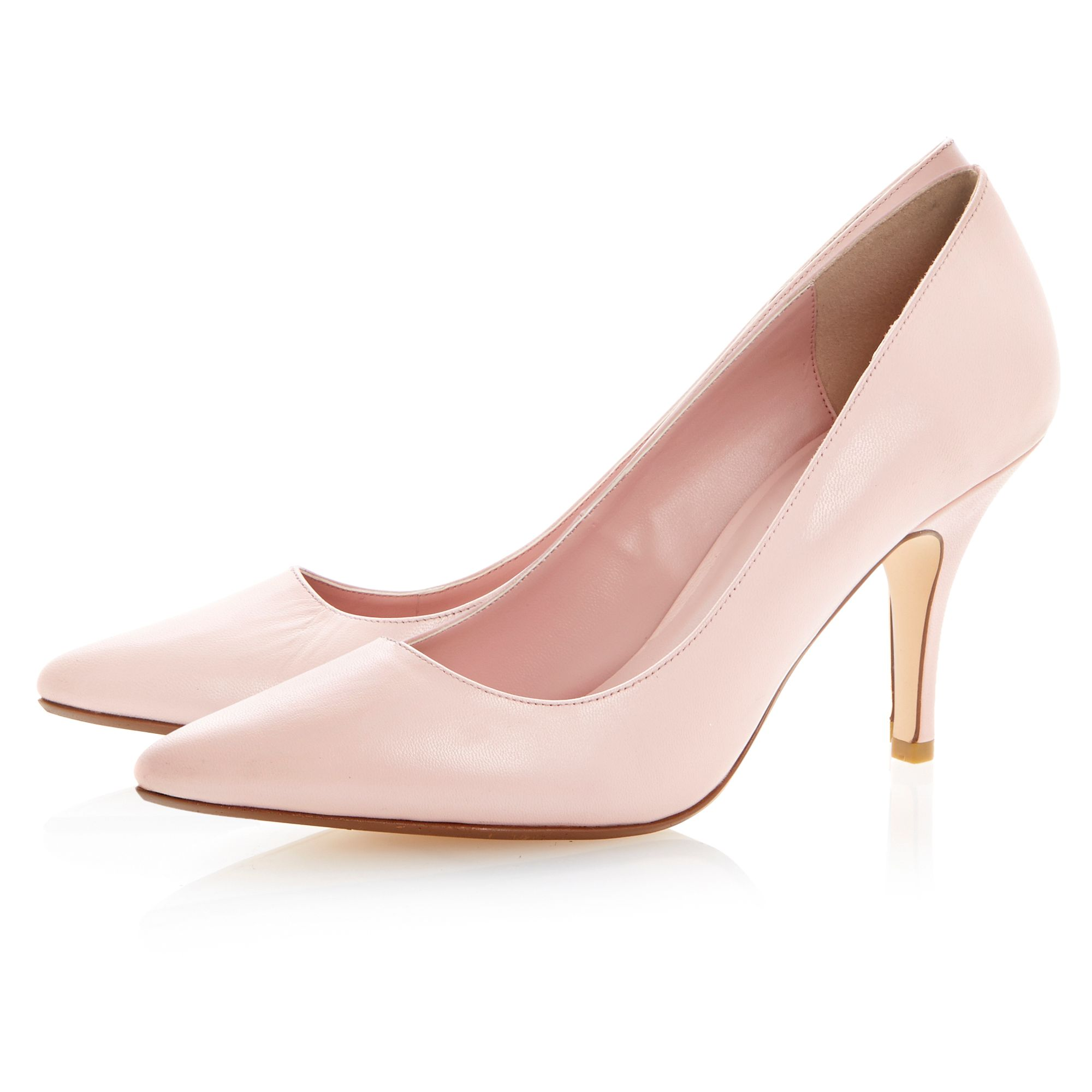 Appoint leather pointed toe stiletto court shoes