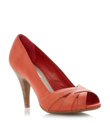 Celest leather peeptoe stiletto court shoes