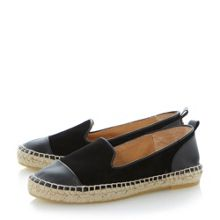 Lolled round toe flat espadrilles