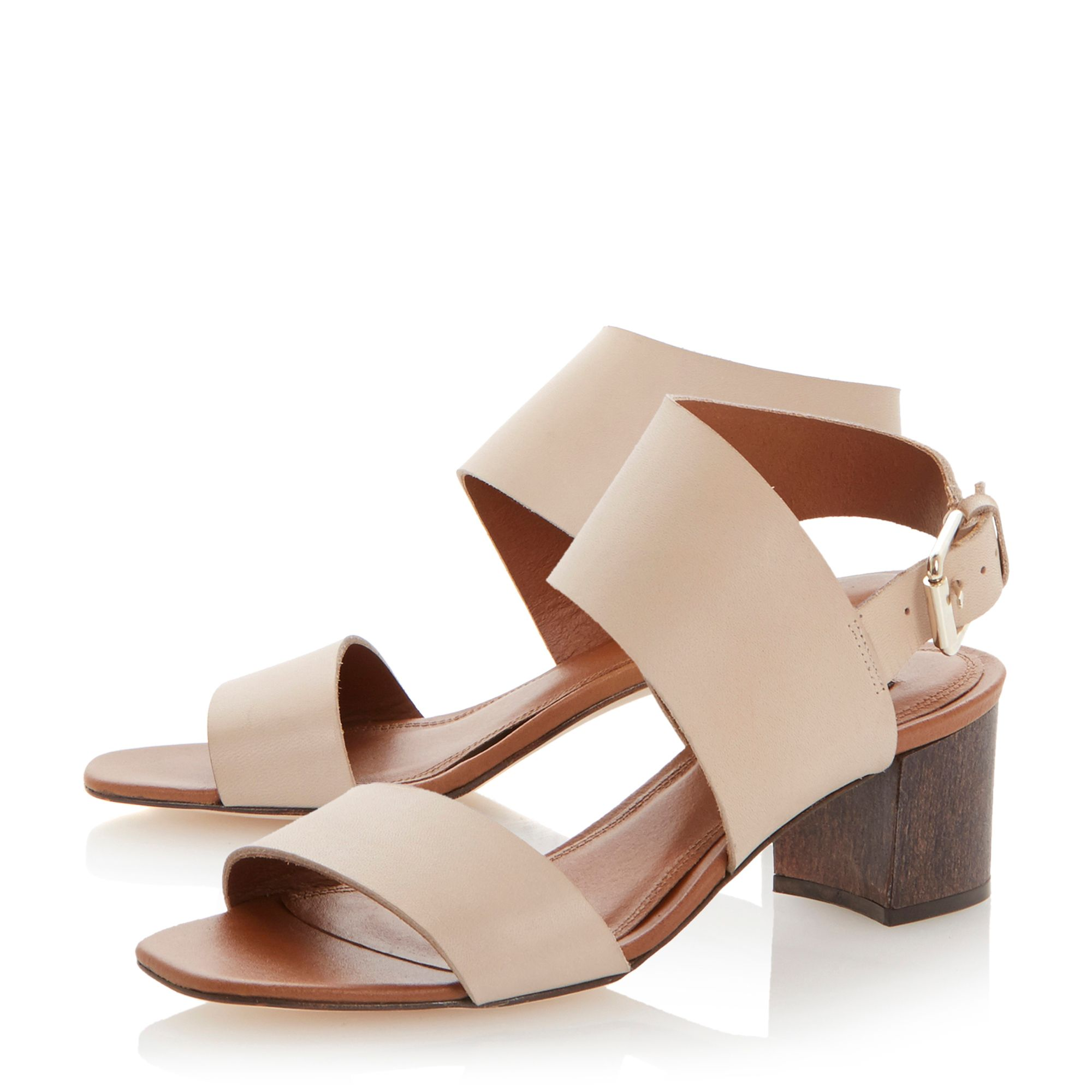 Lotta leather block heel buckle sandals