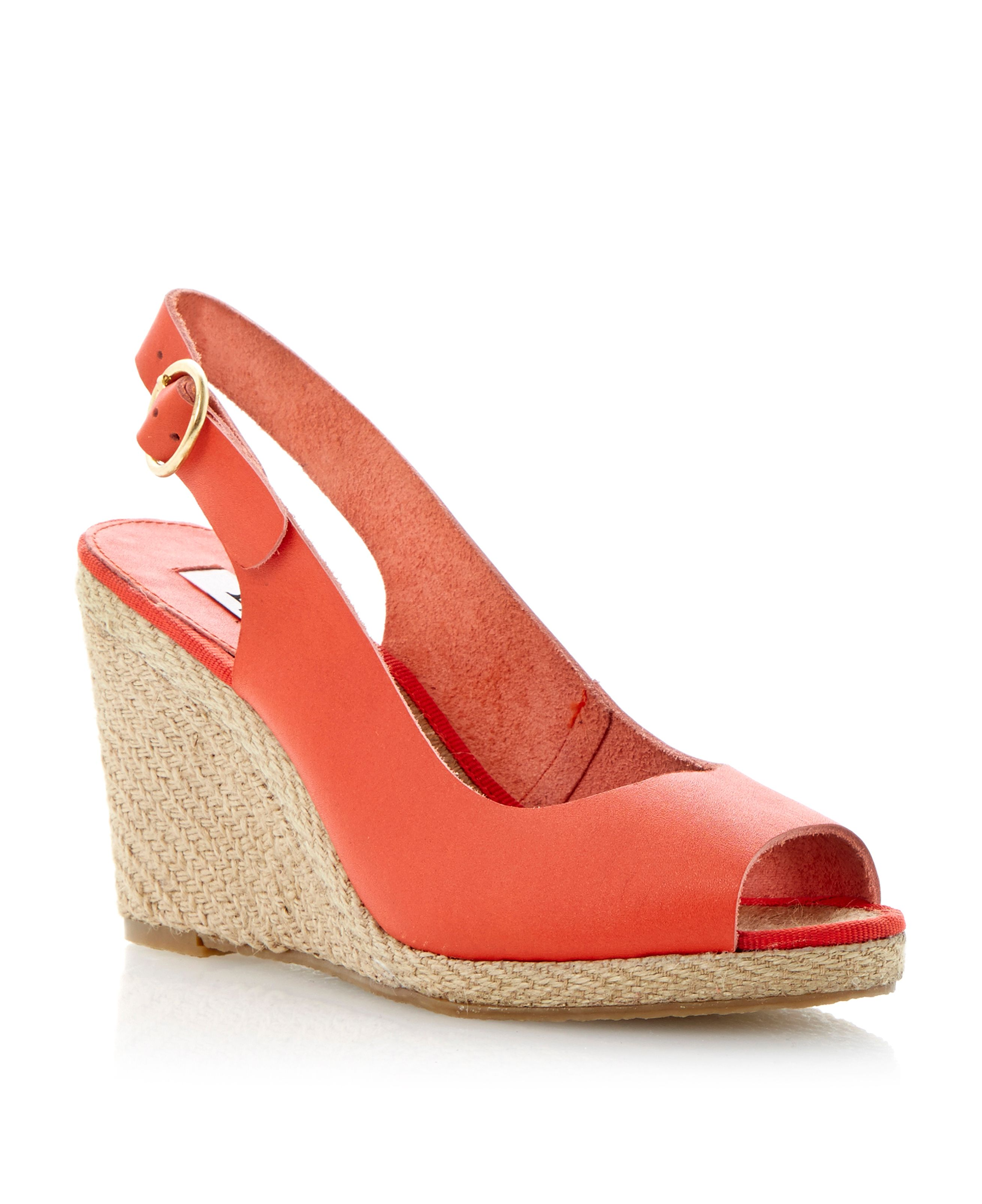 Gleeful peep espdrille wedge sandals
