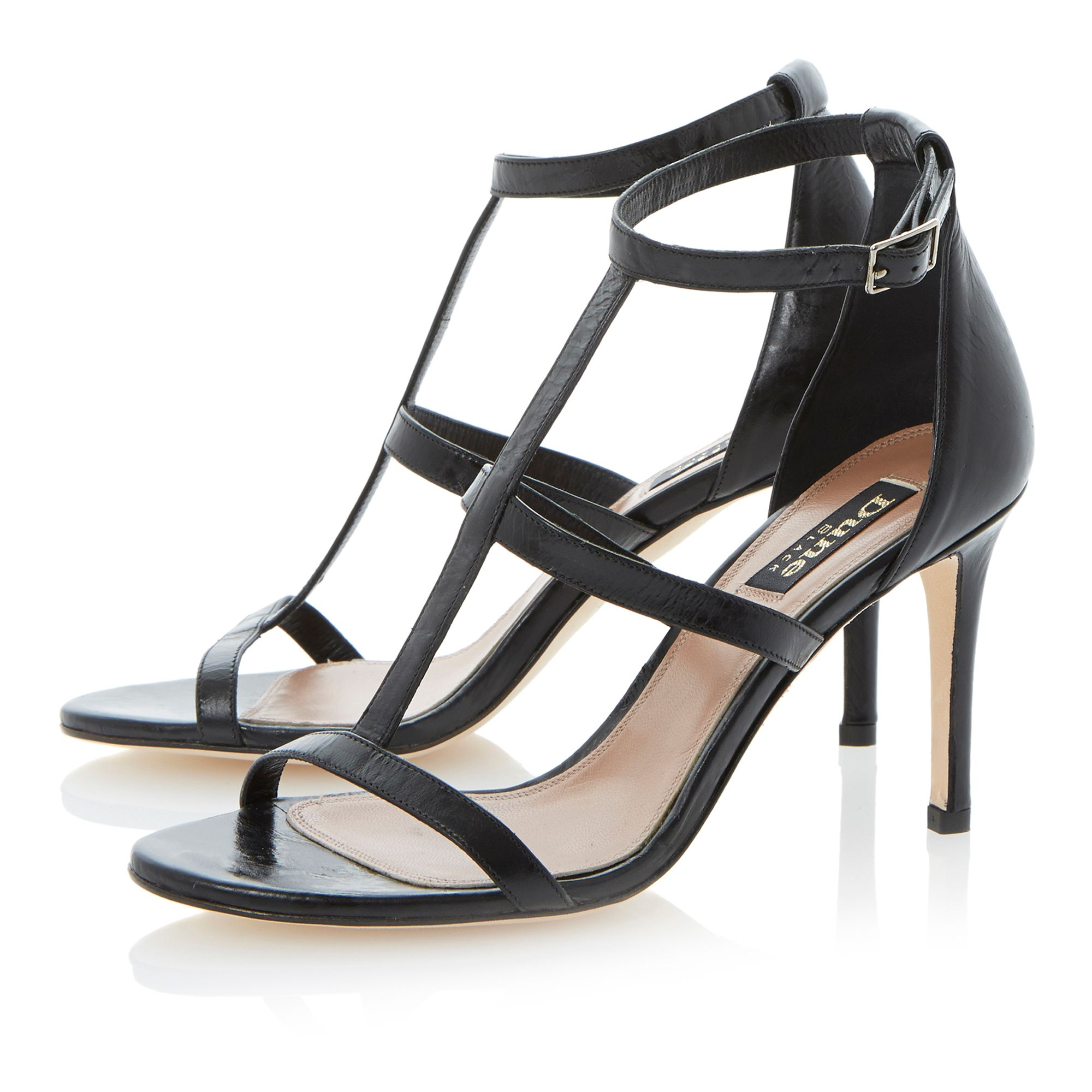 Hattie leather stiletto buckle sandals