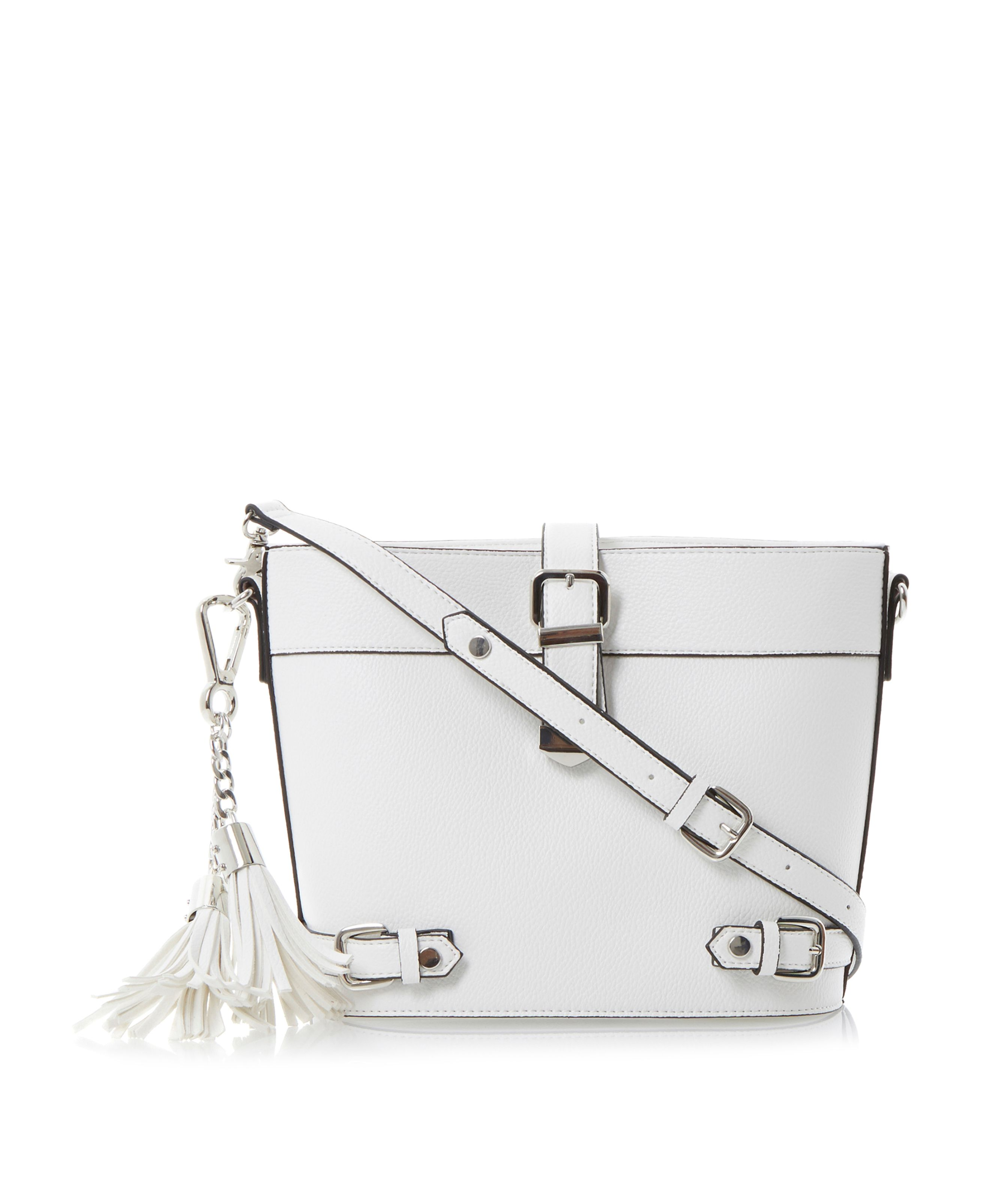 Lyla buckle and tassel trim cross body bag