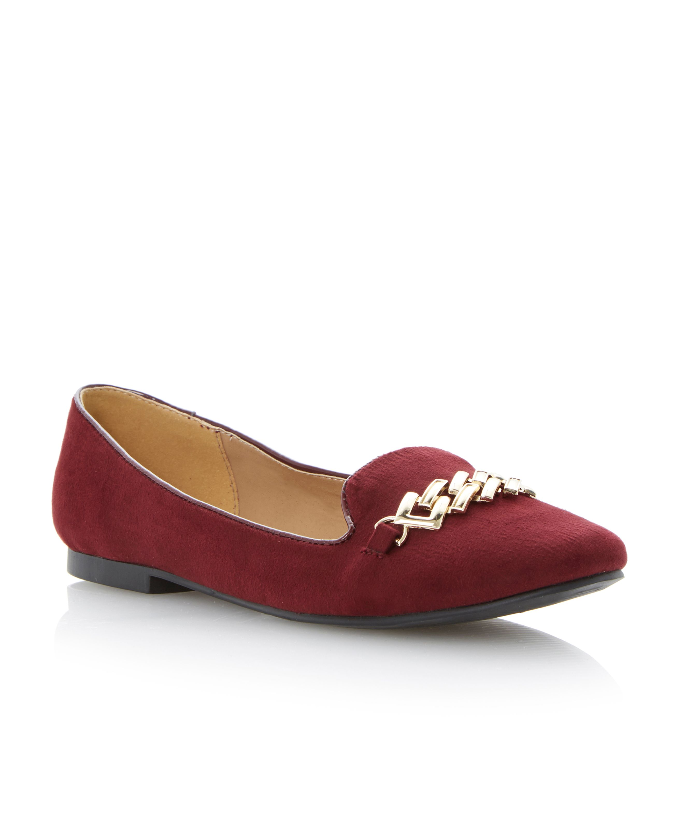 Latica metal trim slipper loafers