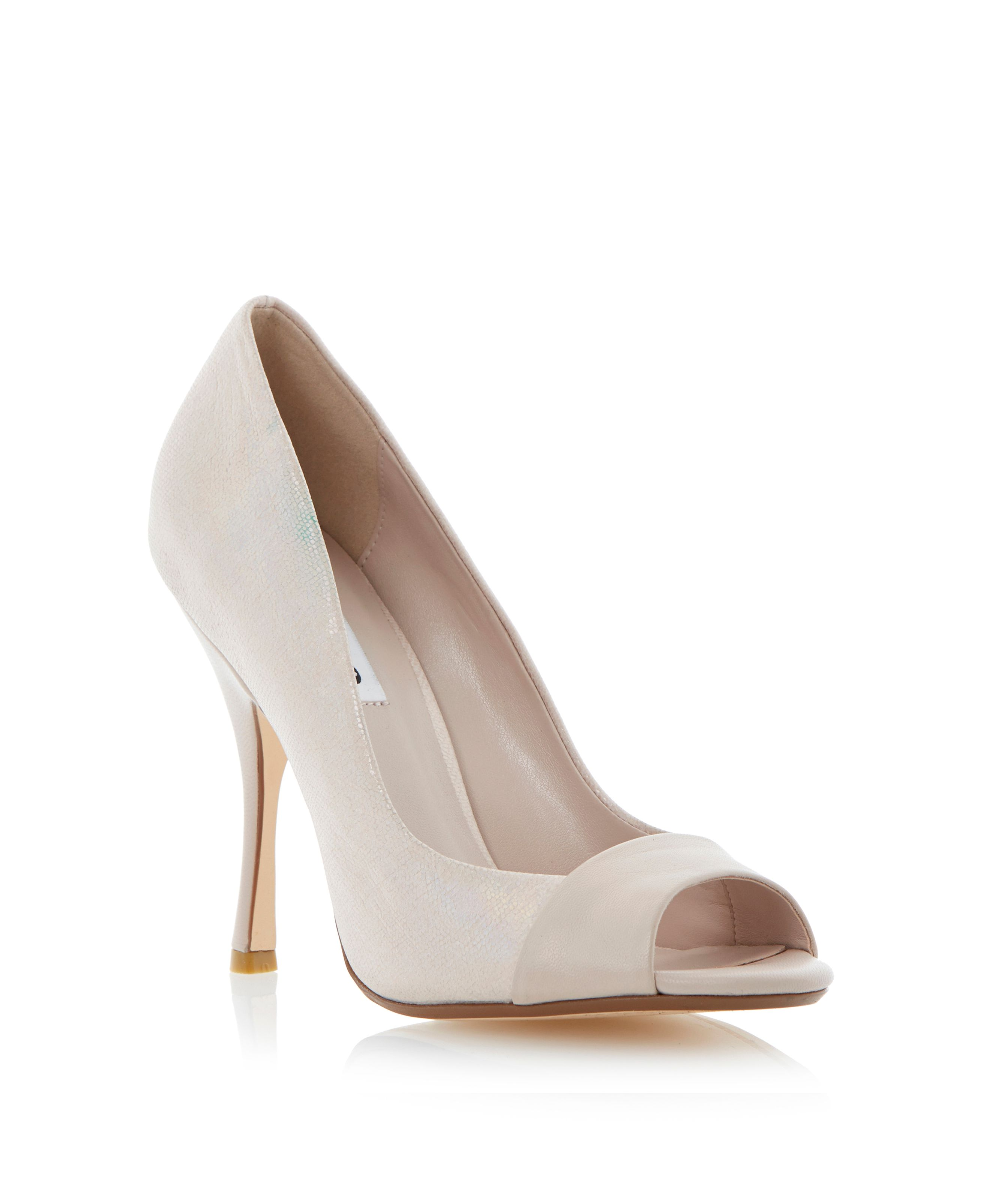 Carine leather peeptoe stiletto court shoes