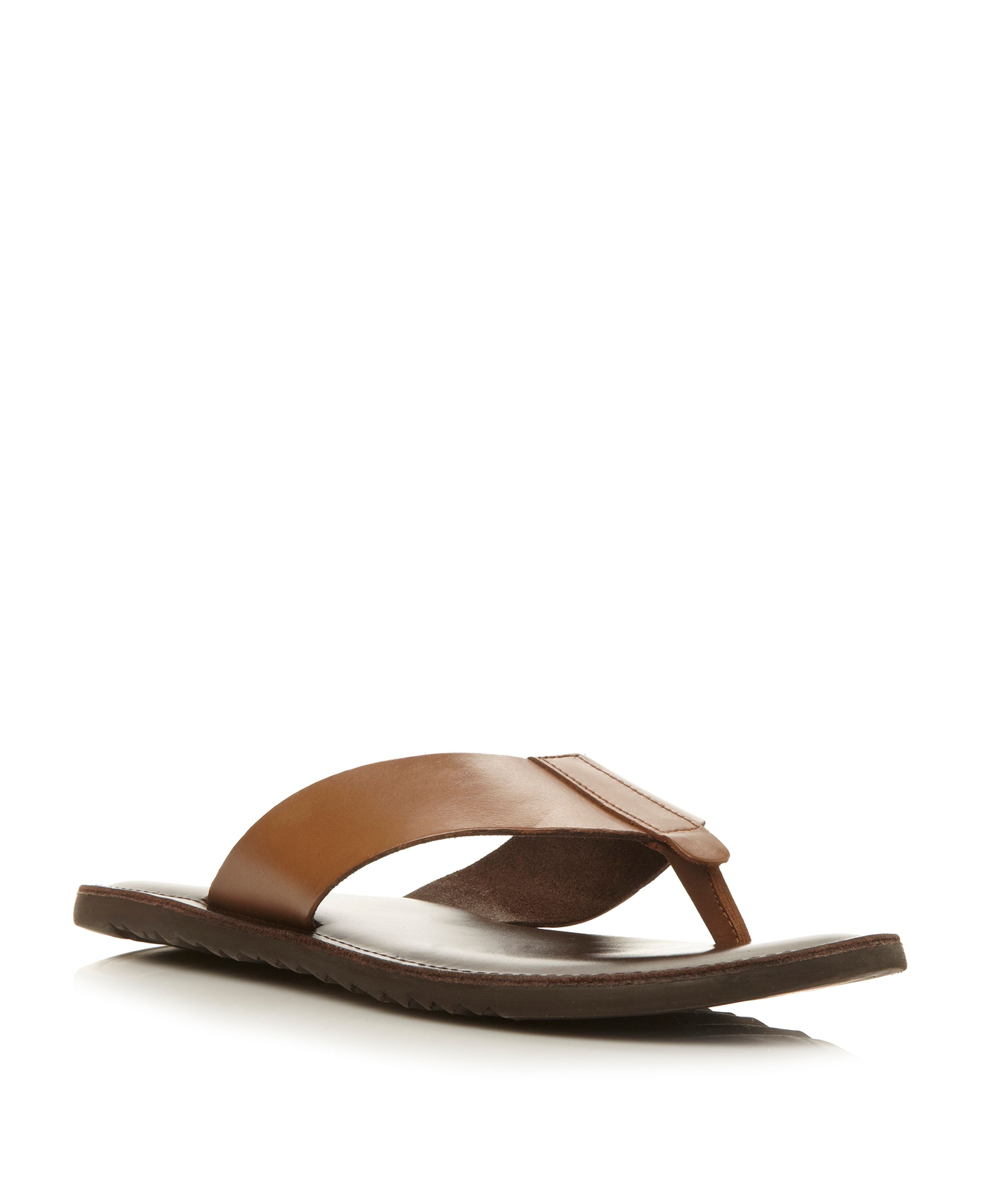 Inka trail leather toepost sandals