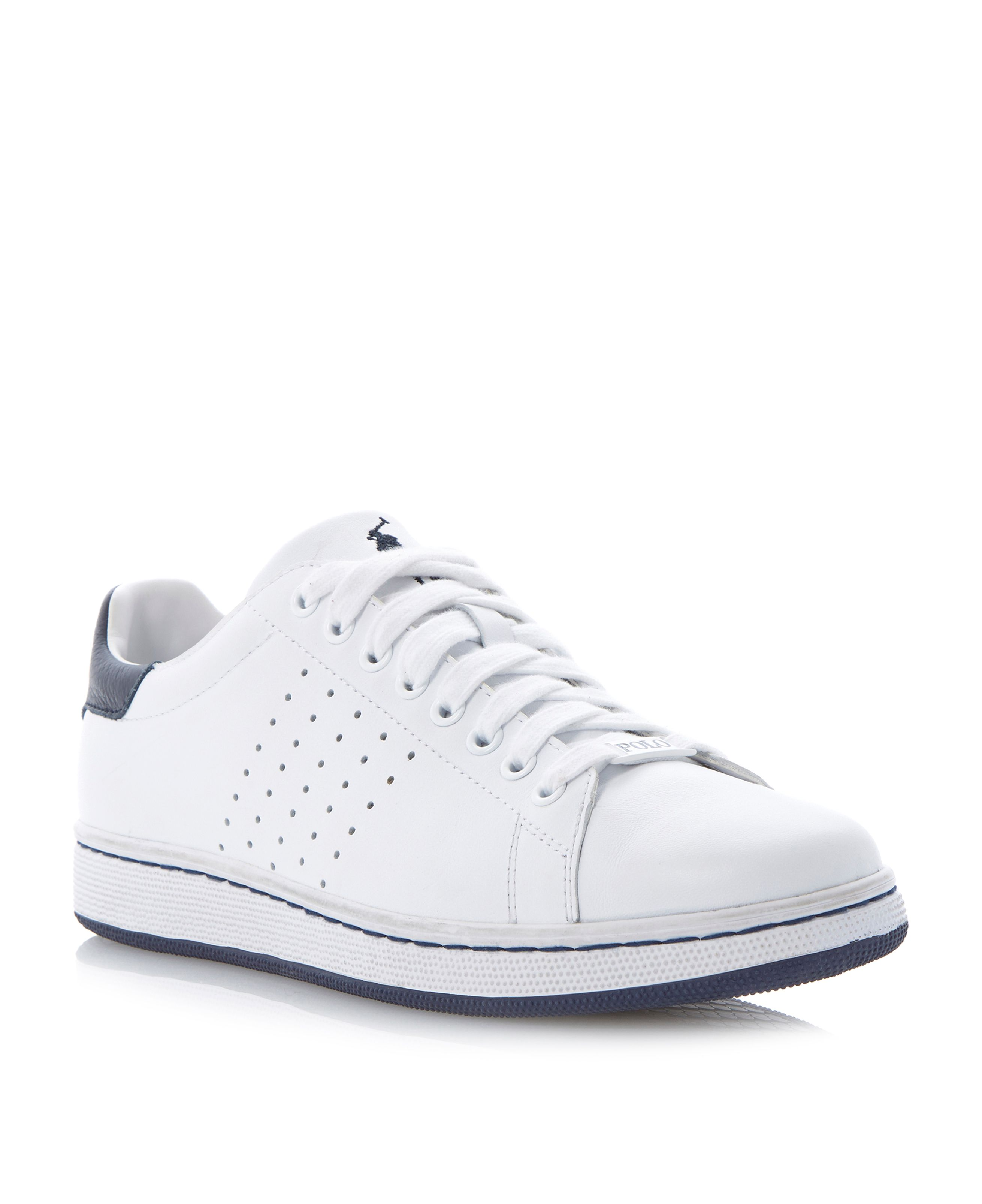 Wilton perforated side trainers