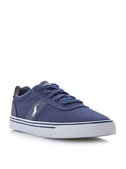 Hanford lace up canvas trainers