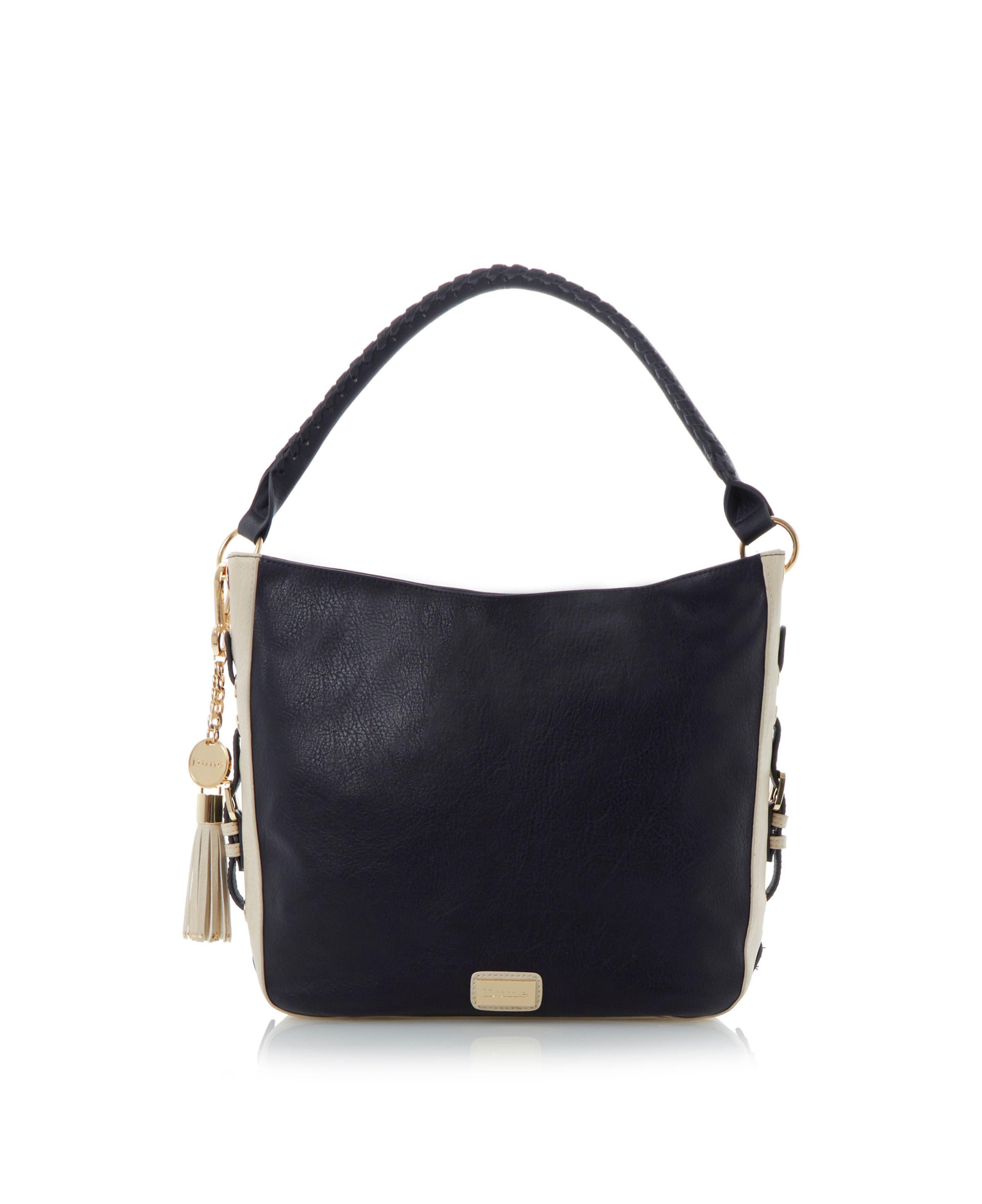 Dobo side buckle detail slouchy shoulder bag