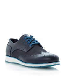 Boombox nylon detail sporty lace up brogues