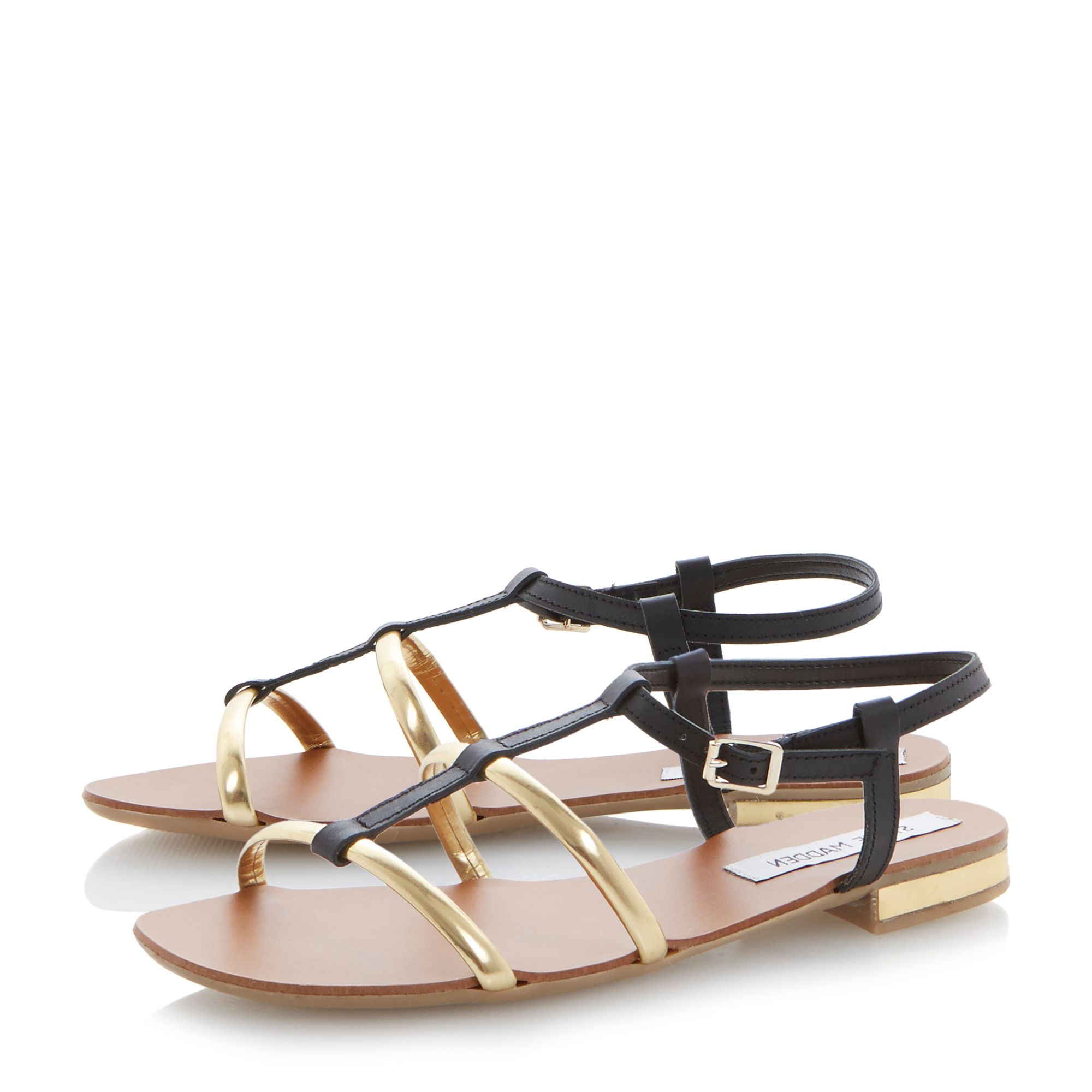 Suave leather flat buckle sandals