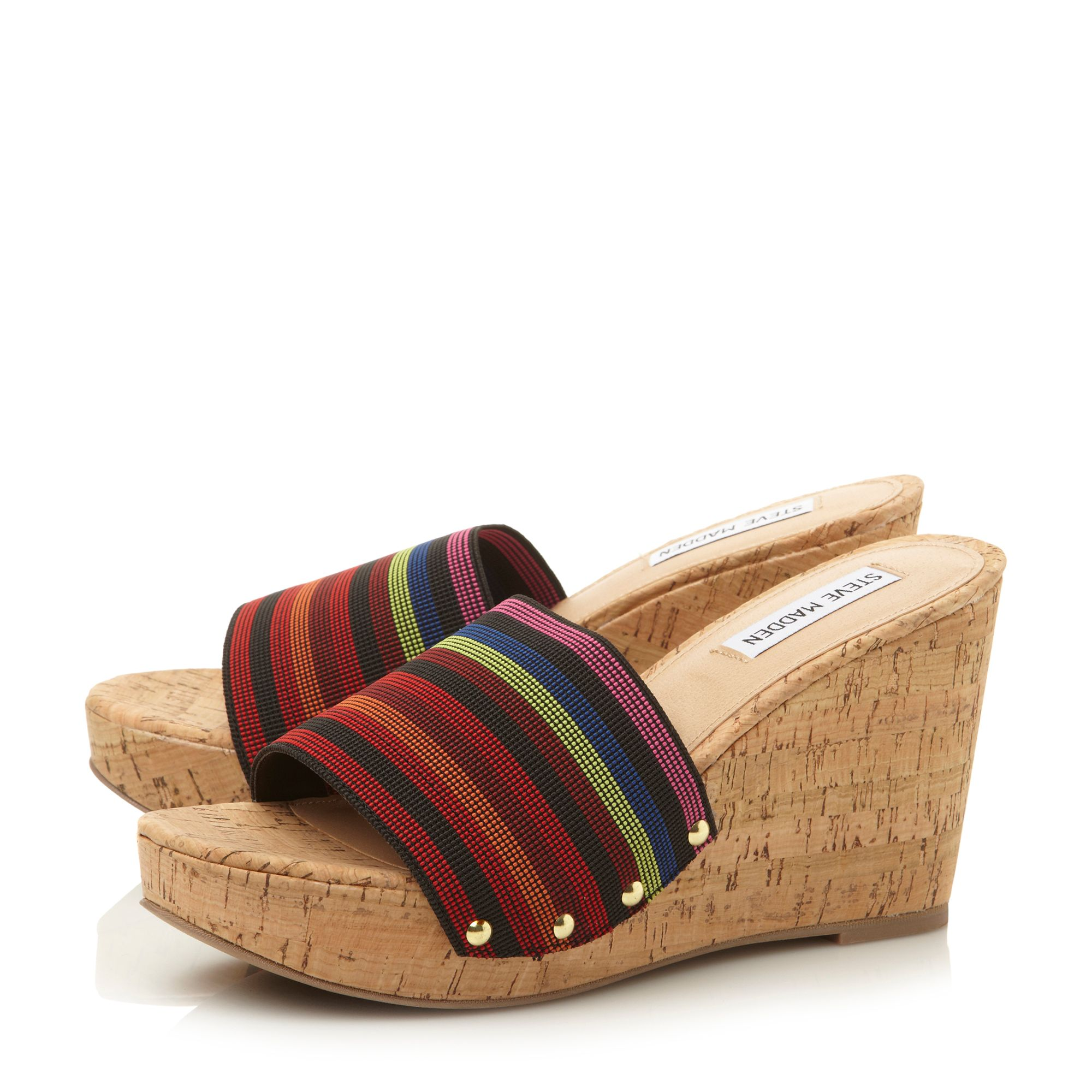 Gibby elasticated wedge sandals