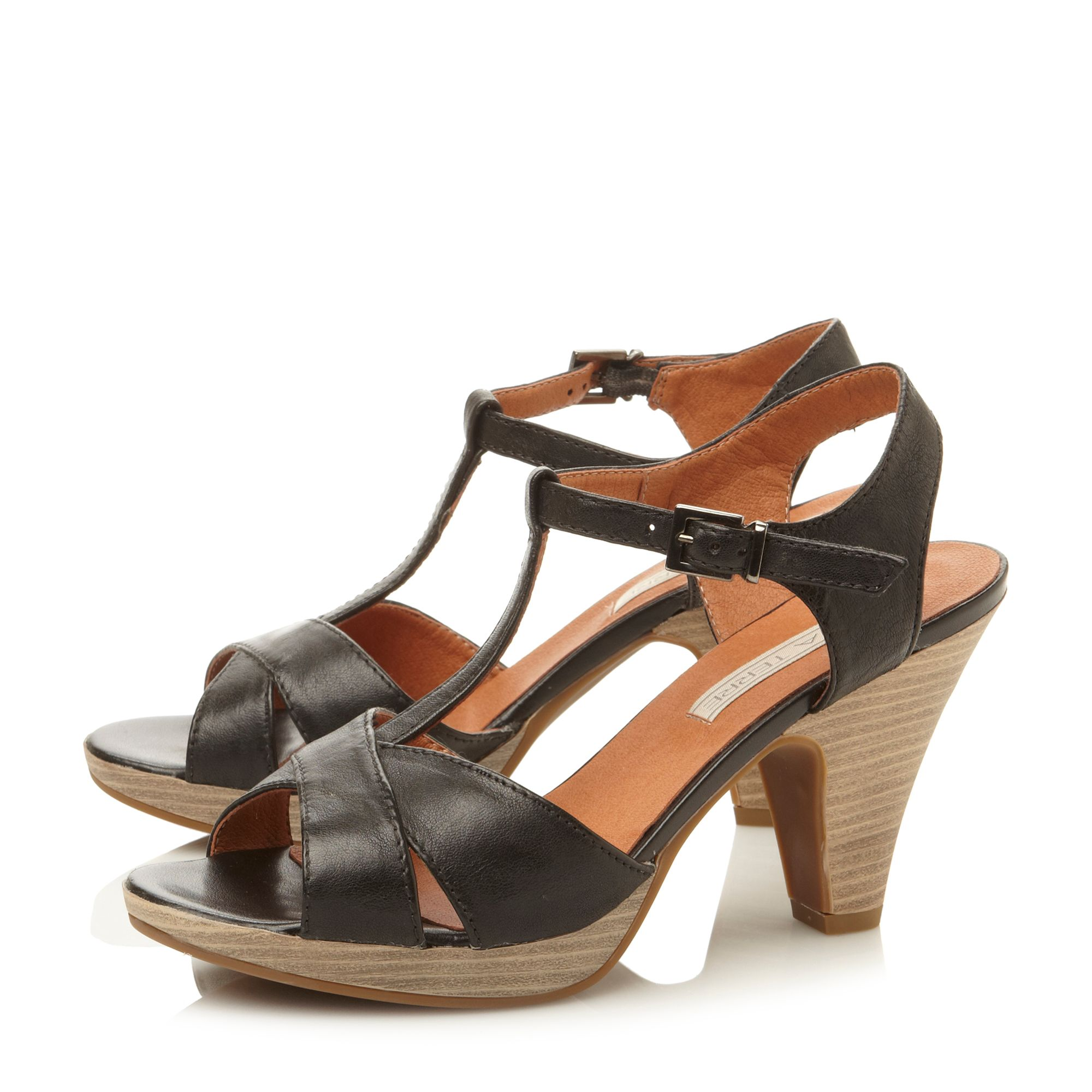 Fickle cross vamp t bar sandals