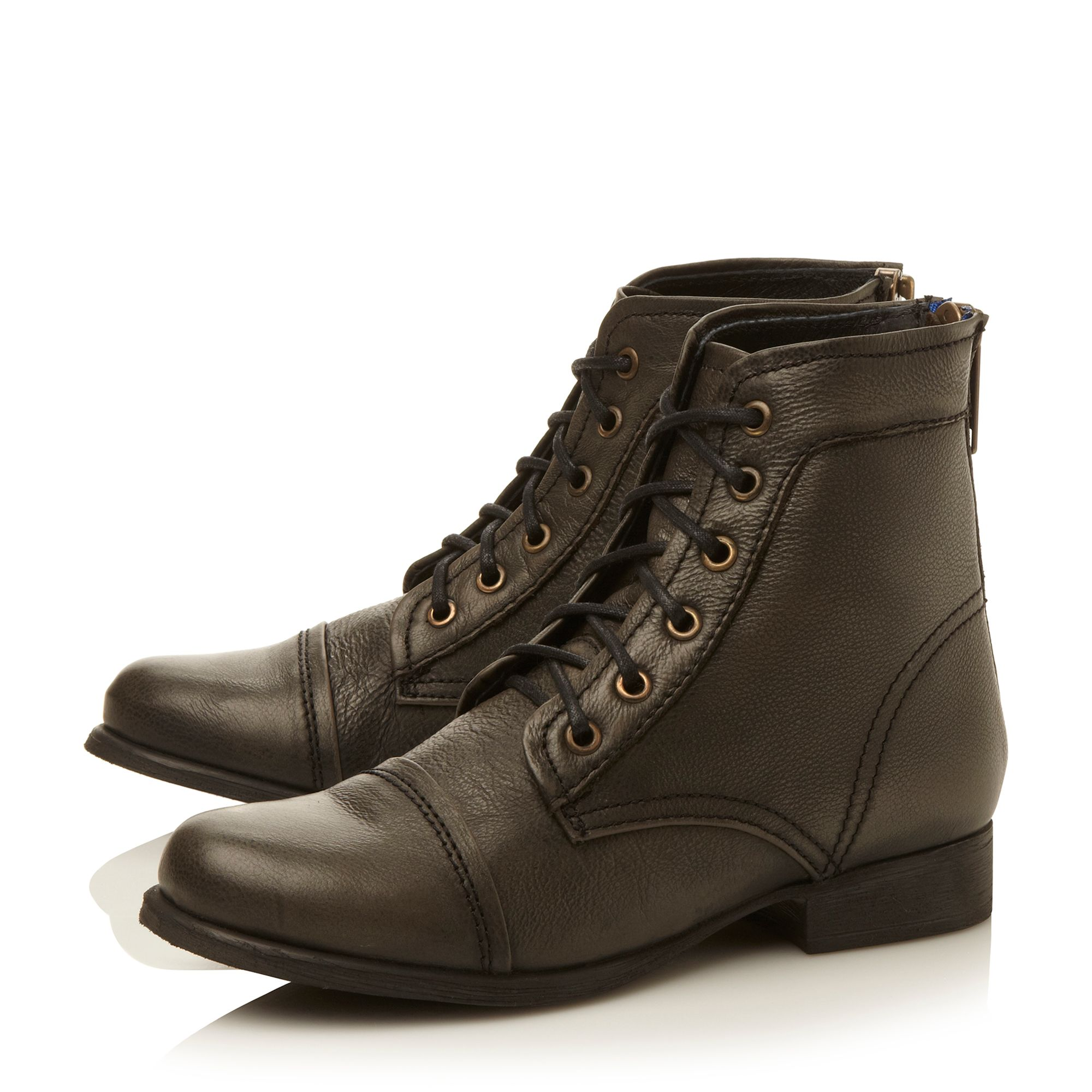 Tundra lace up ankle boots