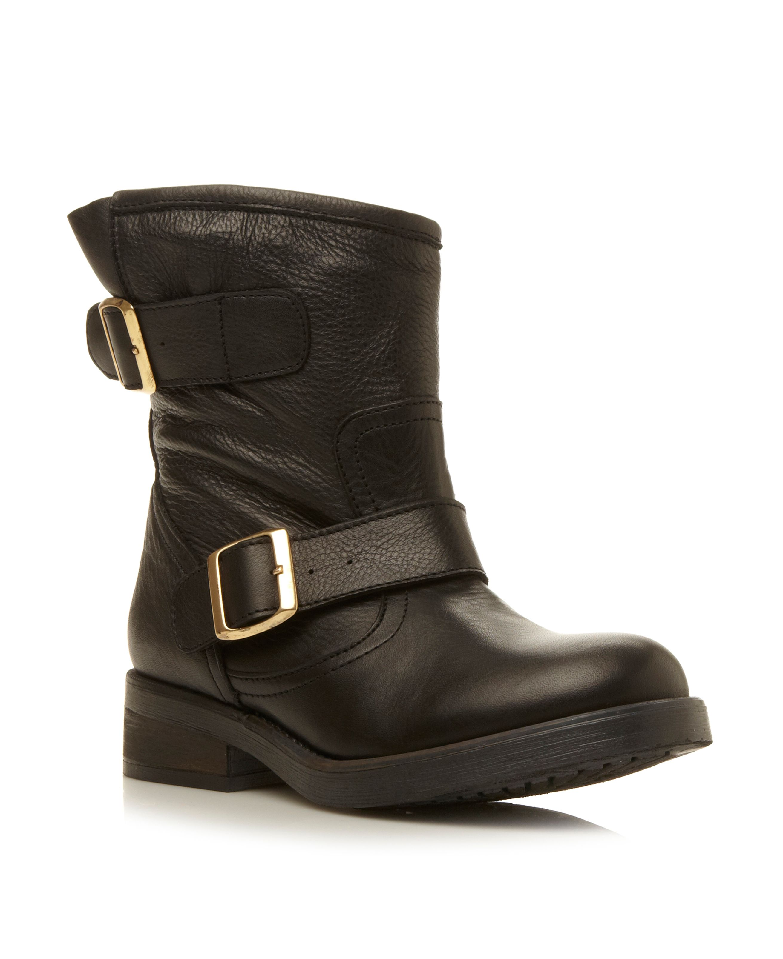 Msfresh buckle biker boots