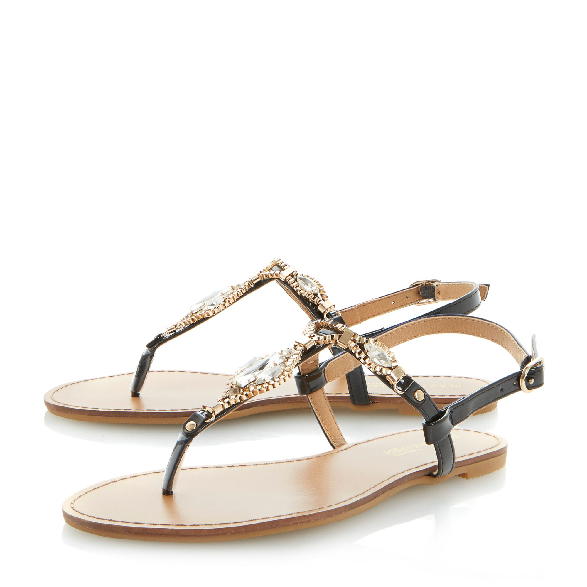 Hawaii jewelled t bar sandals