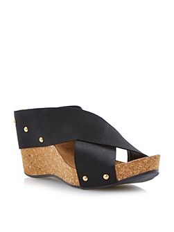 Gladley crossover strap wedge sandals