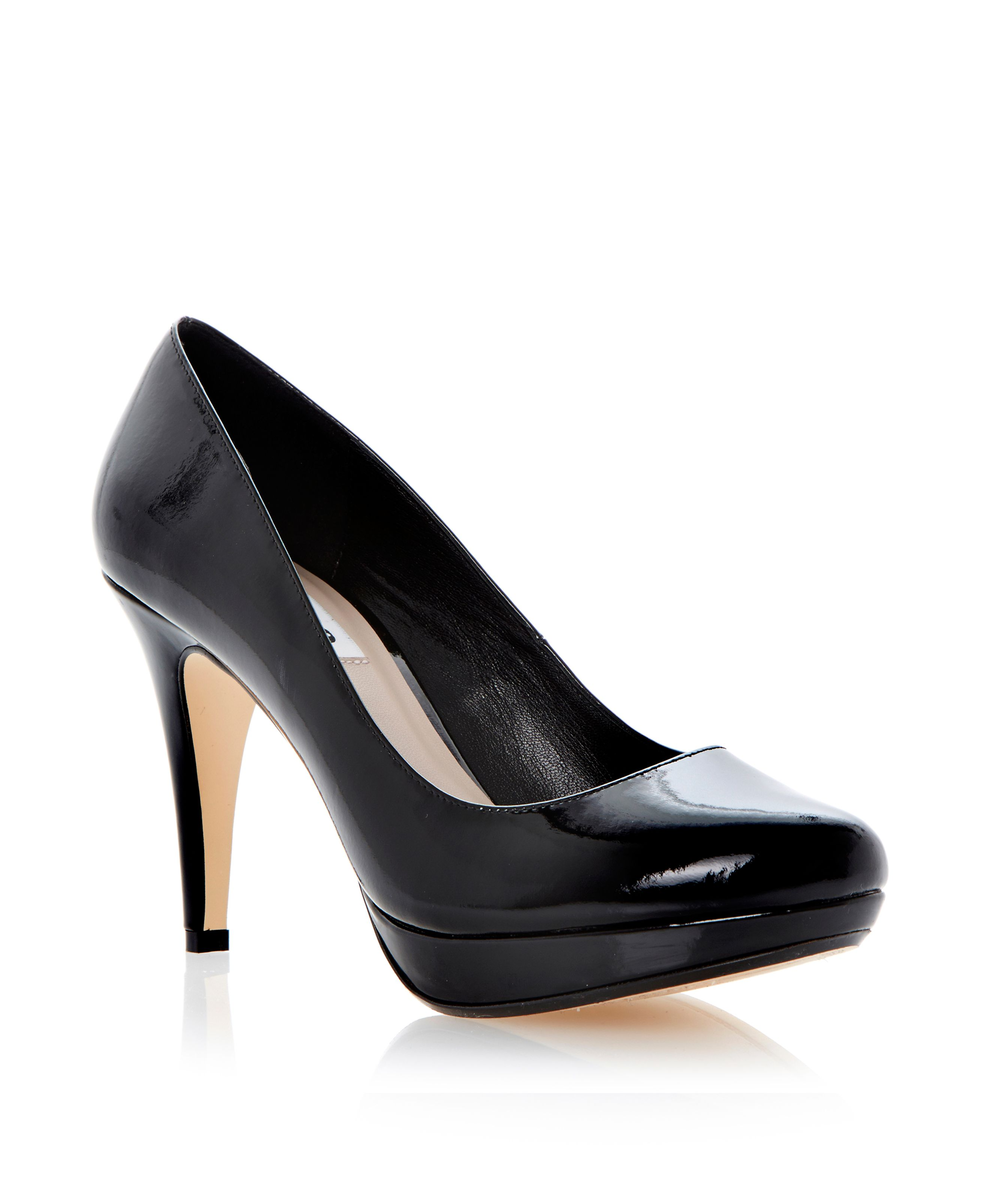 Angelinee almond stiletto court shoes