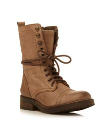 Monch lace  up calf boots