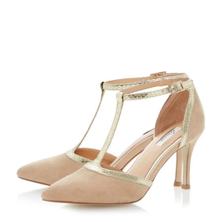Linea Caroly pointed toe t-bar court shoes