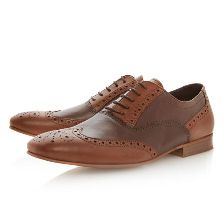 Linea Amersham two tone brogues