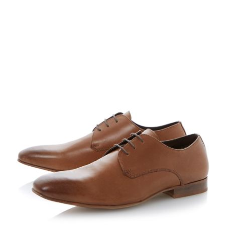 Linea Brackle plain vamp gibson lace shoes