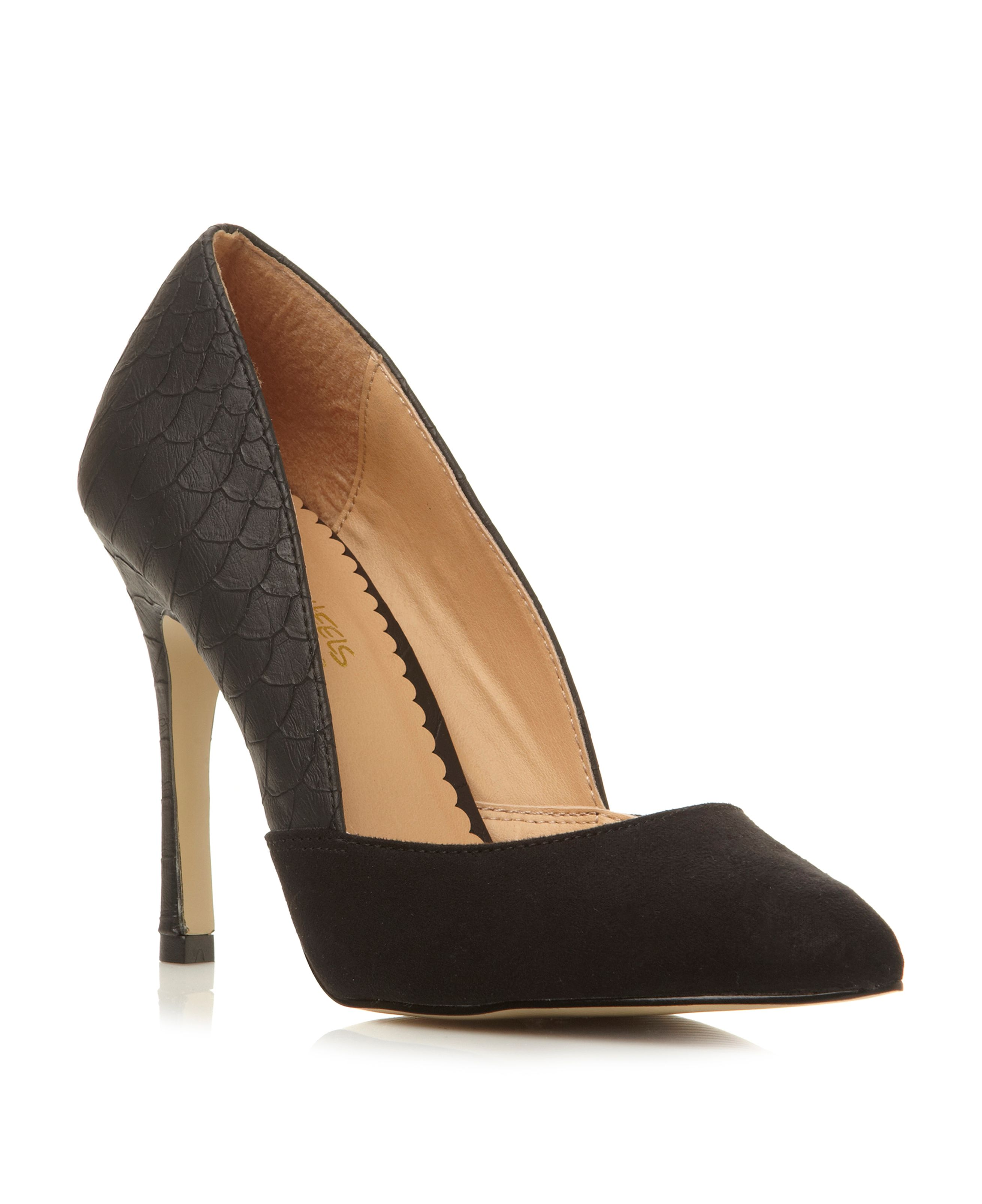Boden pointed toe stiletto court shoes