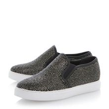 Litzie round toe flat slip on shoes