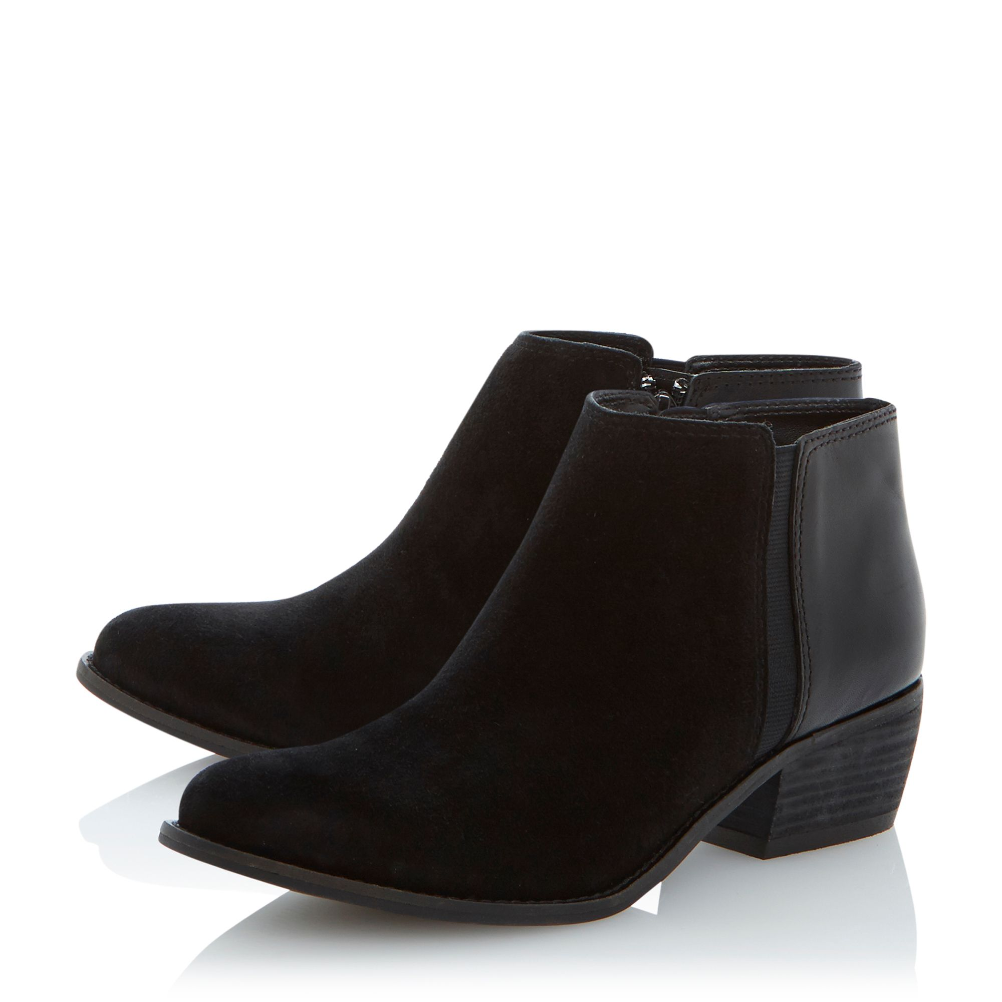 Penelope leather low ankle boots