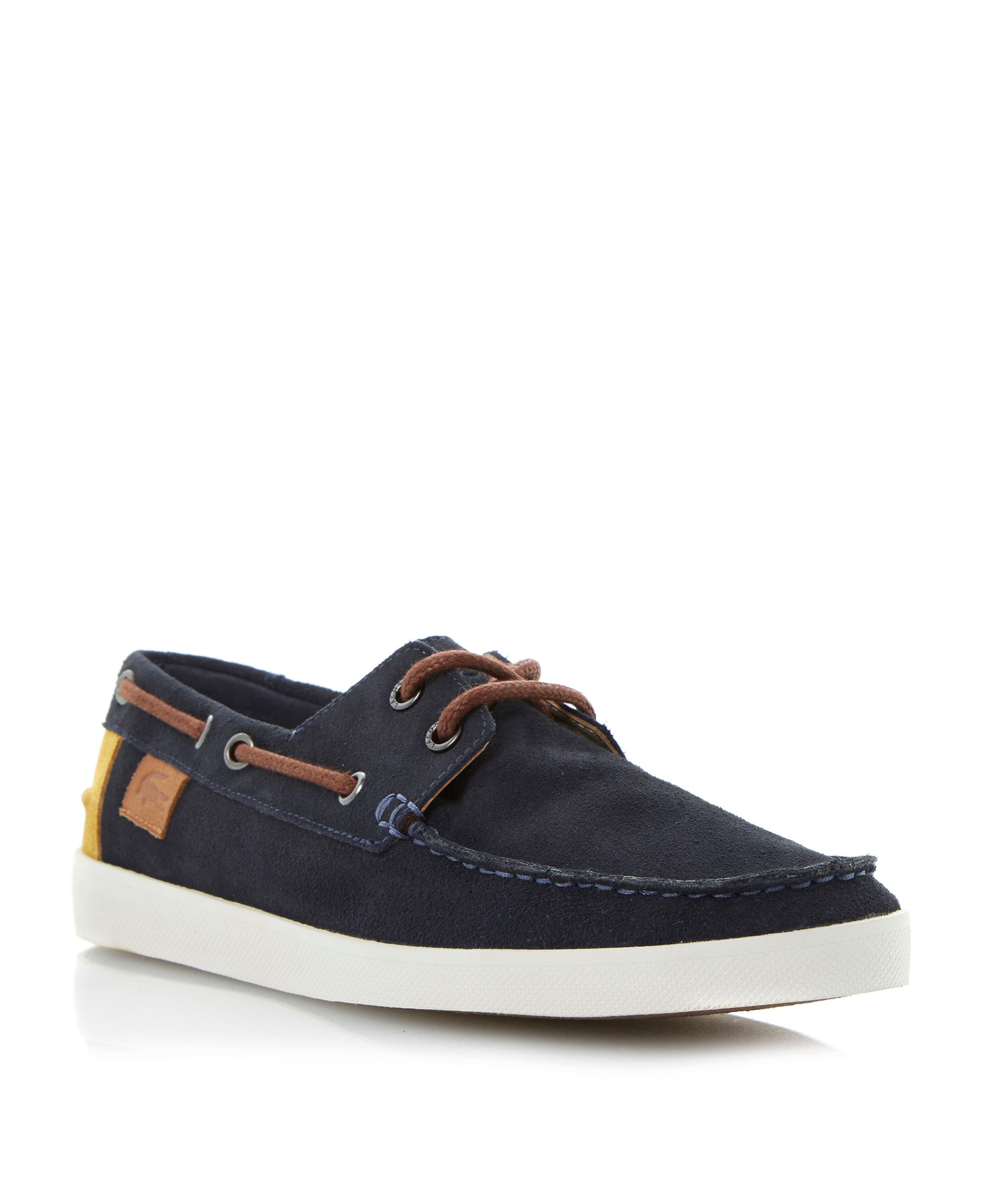Keellson suede lace up boat shoes