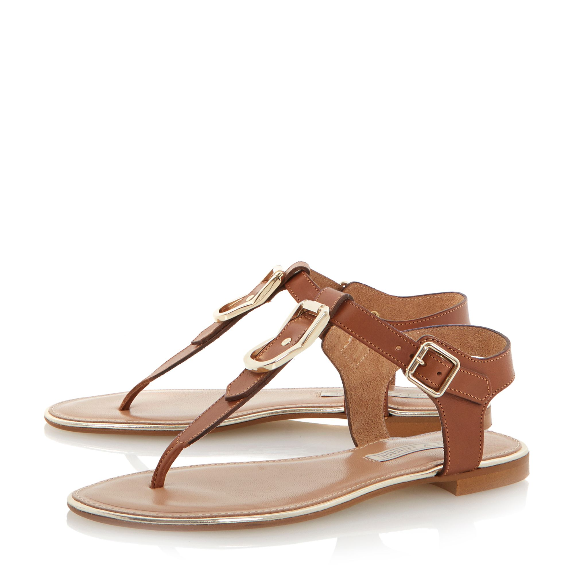 Juckle leather flat sandals