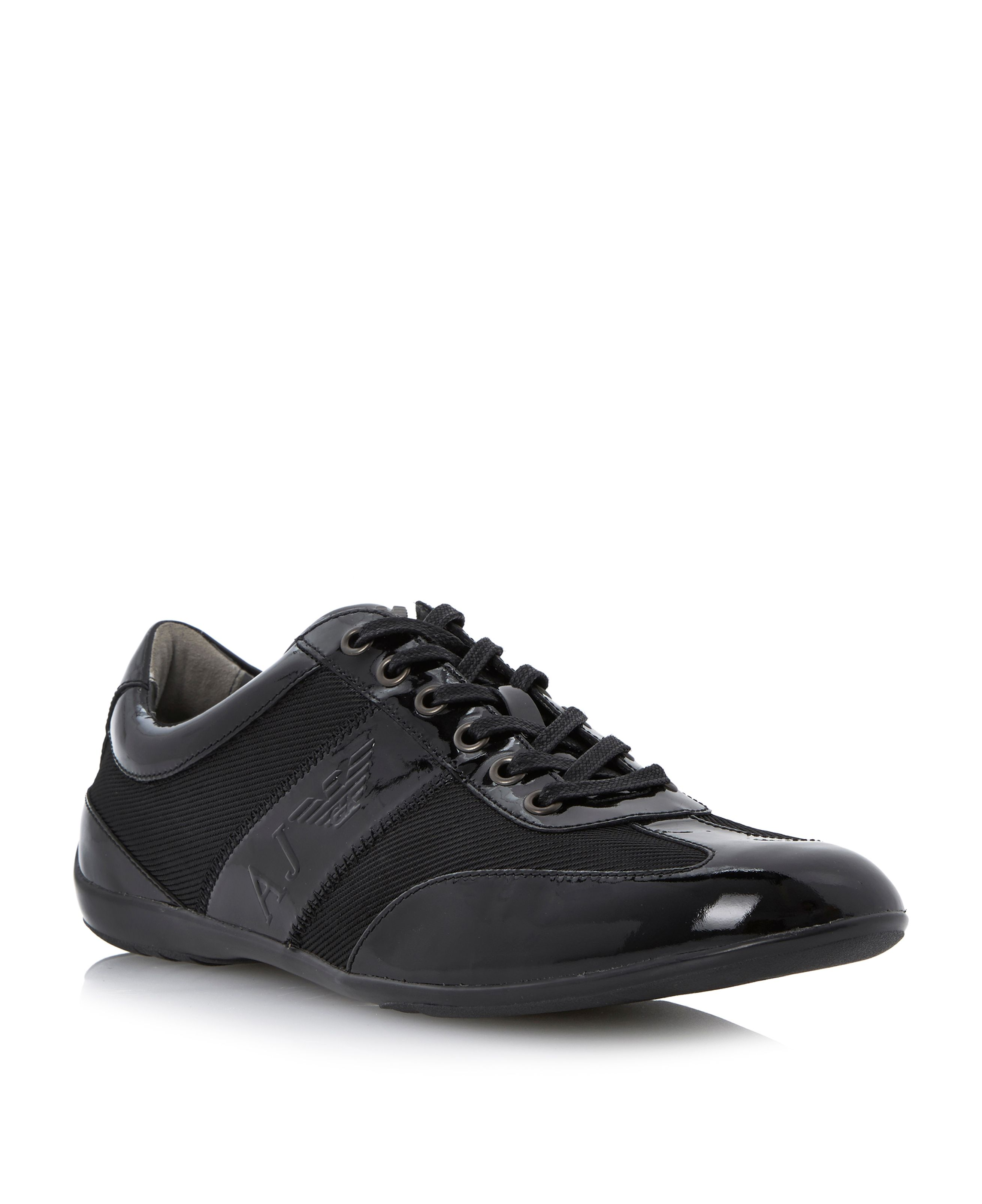 Combo wingtip lace up trainers
