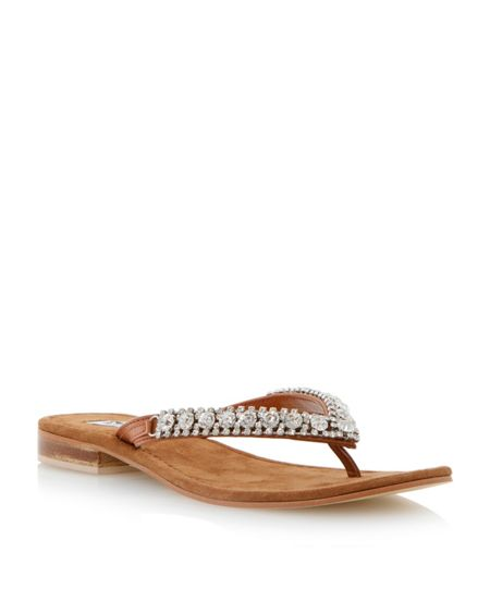 Dune Kiki leather flat sandals