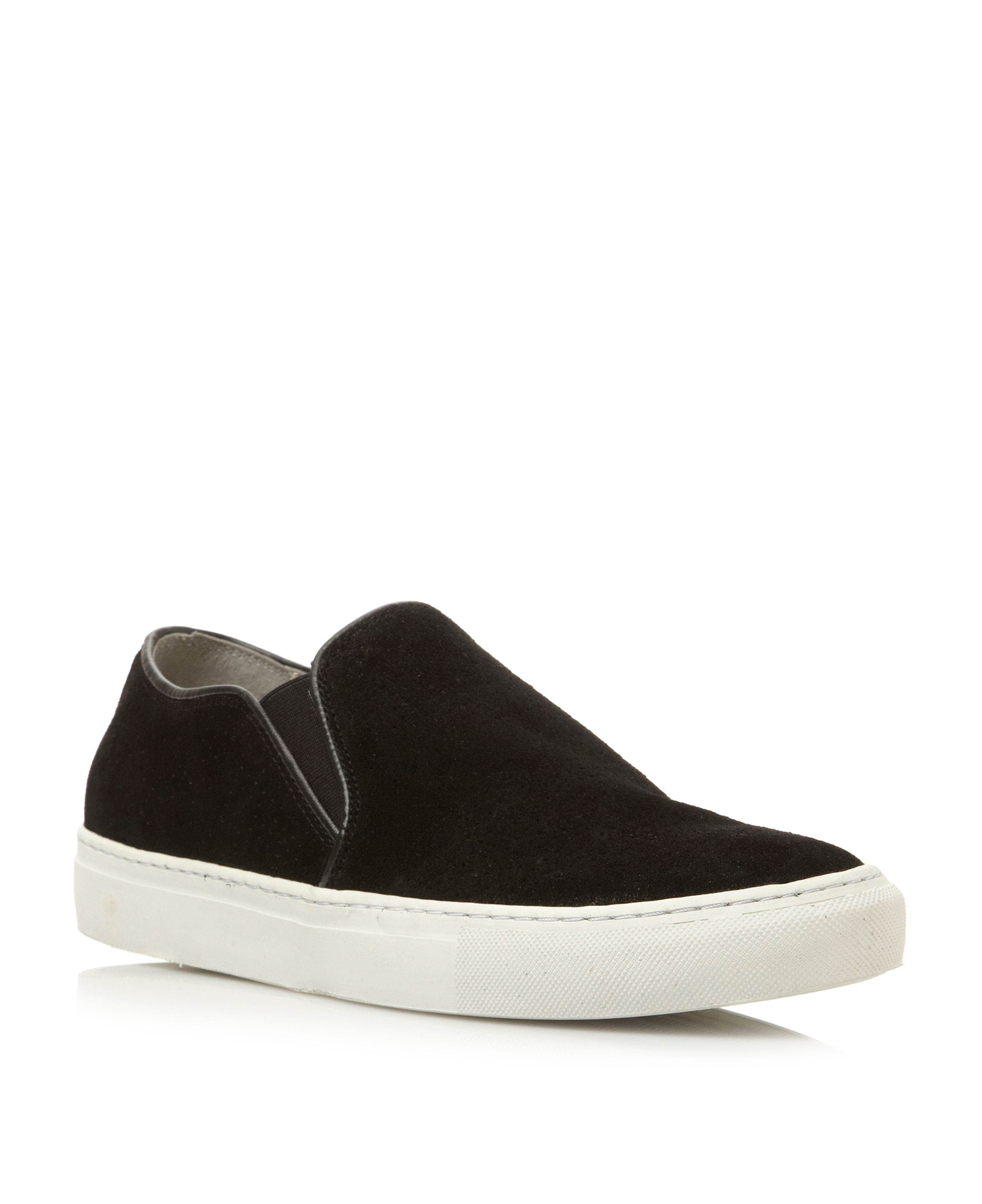Battersea elasticated perforated slip ons