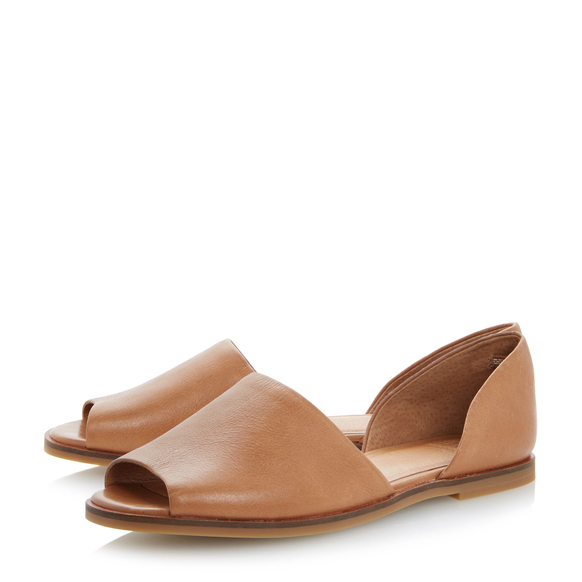 Jambi peeptoe leather flat sandal