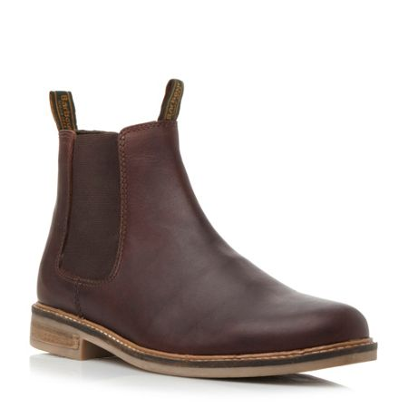 Barbour Farsley lace up natural sole chelsea boots