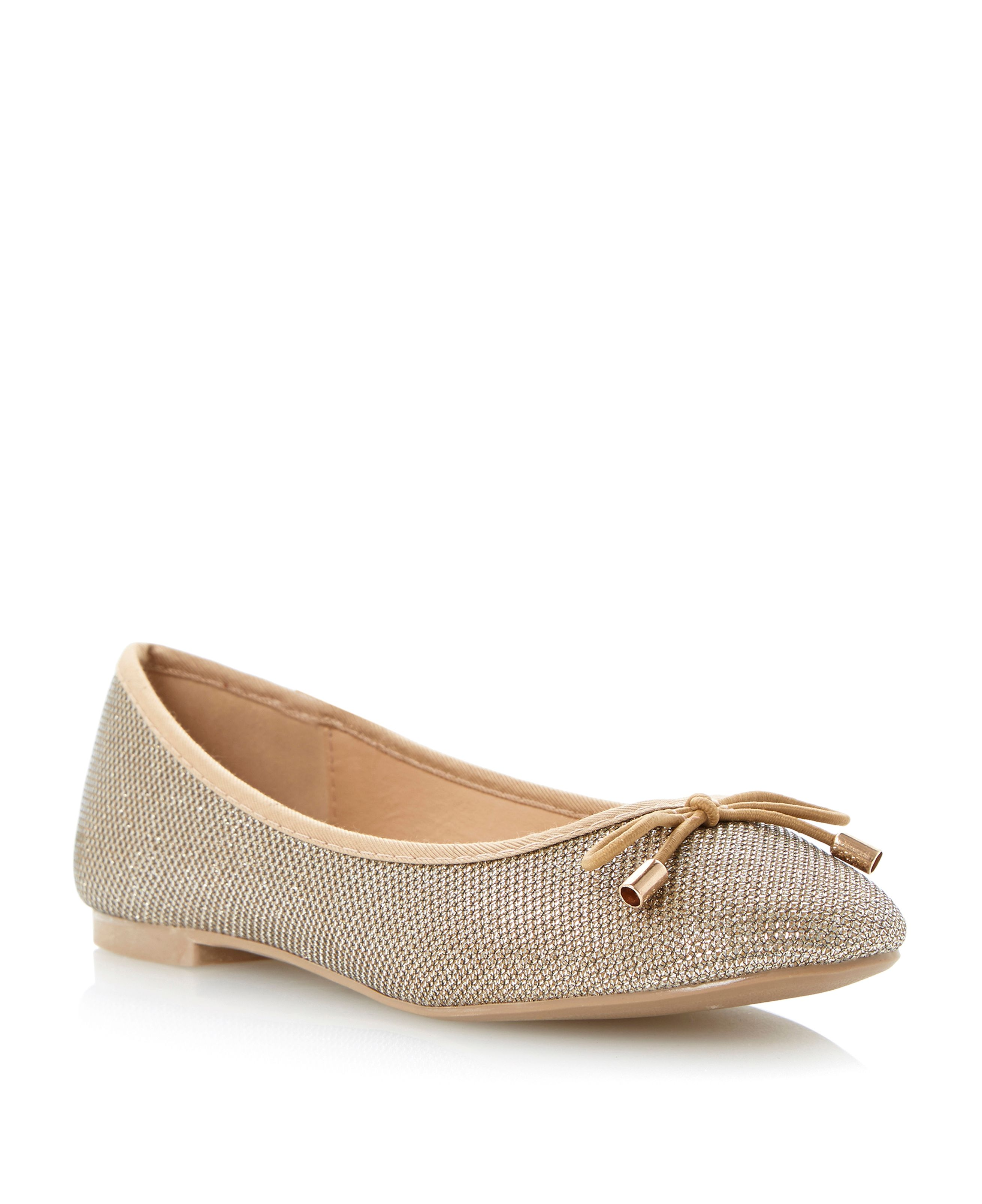 Molly lurex ballerina pumps