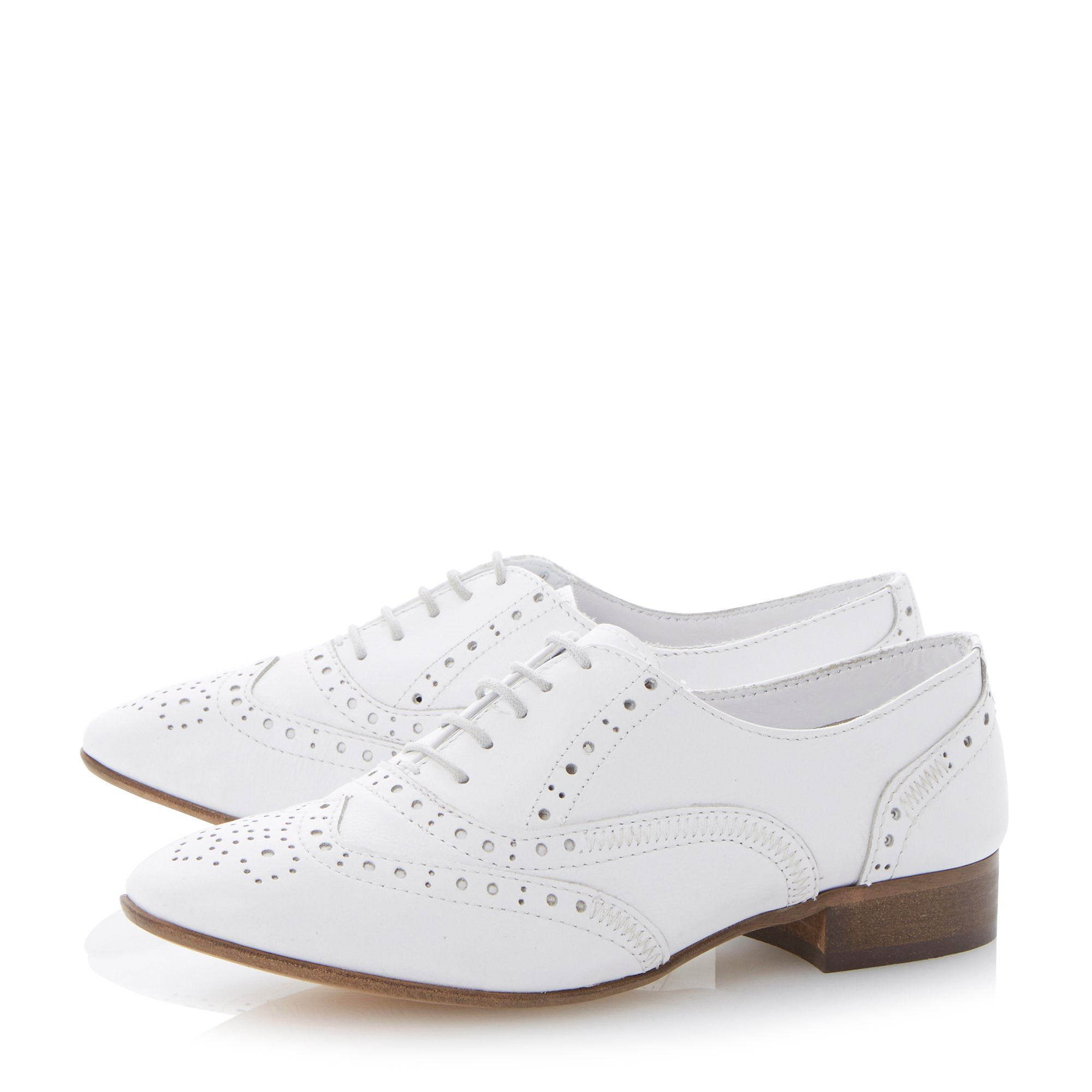 Lenni leather block heel lace up shoes
