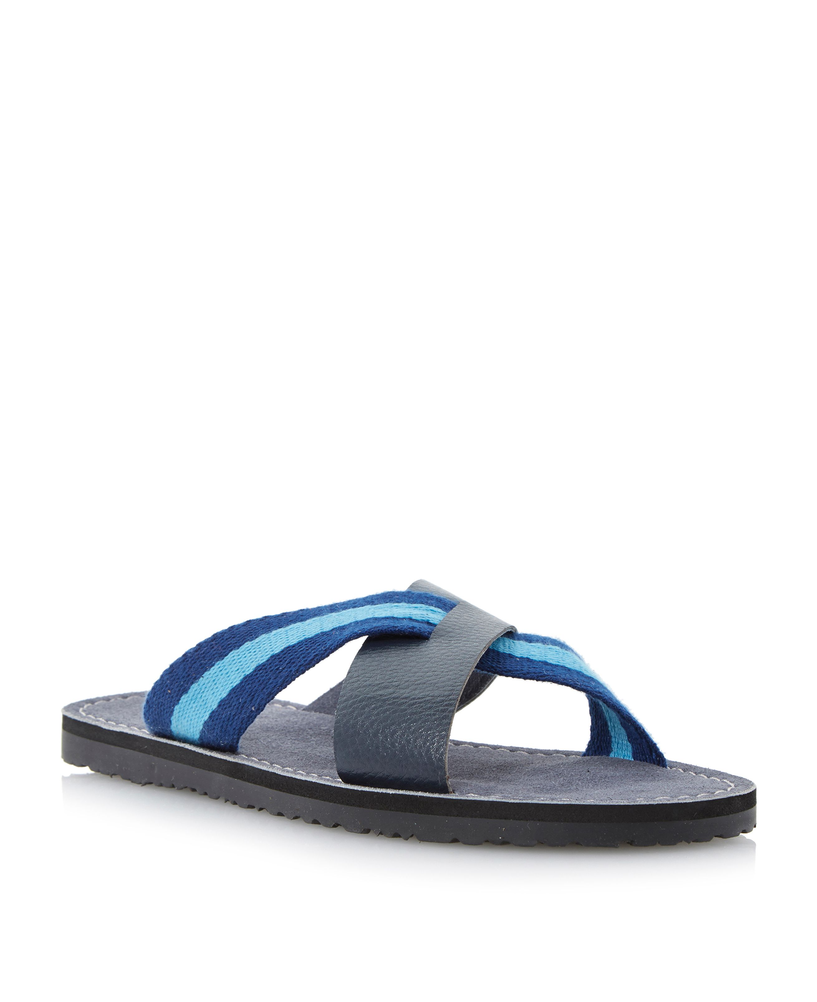 Indiana soft stripe cross sandals